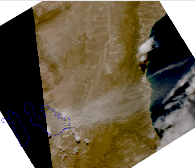 Sentinel-3B True Colour, 7 March 13:08 UTC