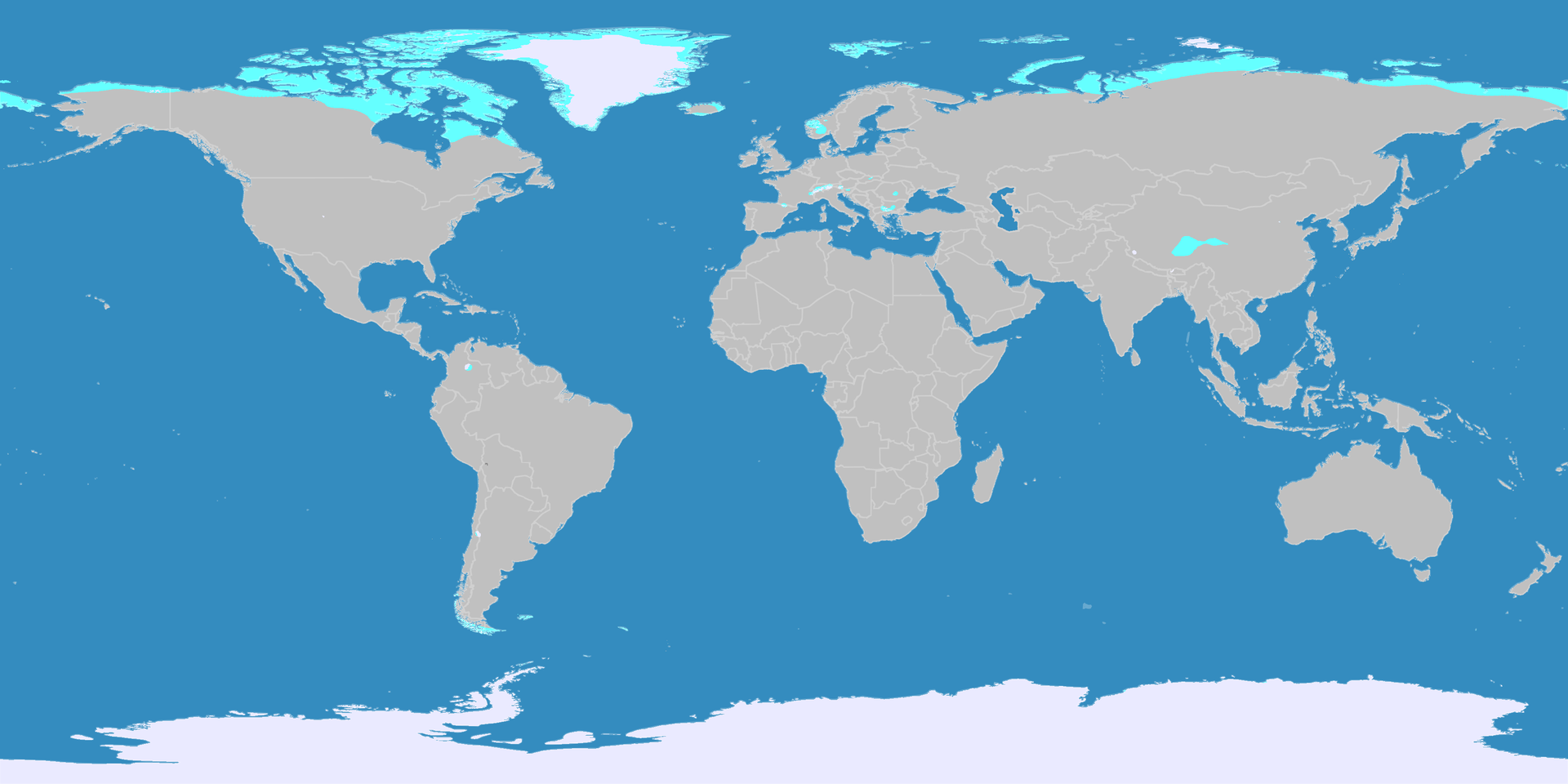 """Figure 3: Areas of the Earth's """"frigid zone"""""""