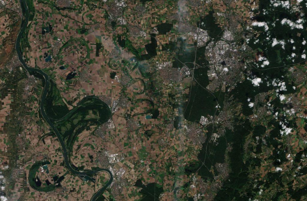 Aerial image of Darmstadt