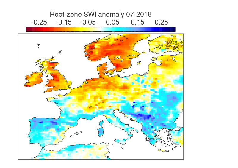 Root Zone Soil Wetness Index