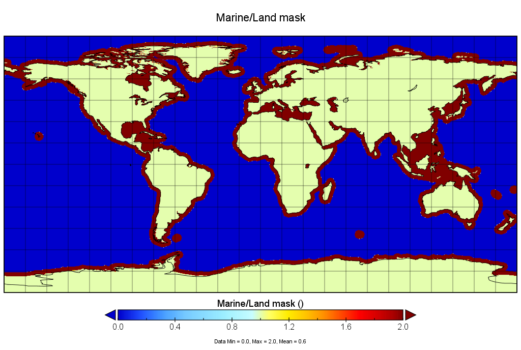 Sentinel-3 Altimetry Marine Land Mask Product