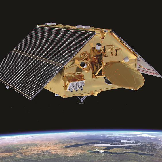 Artist's impress of Copernicus Sentinel-6 Michael Freilich in orbit.