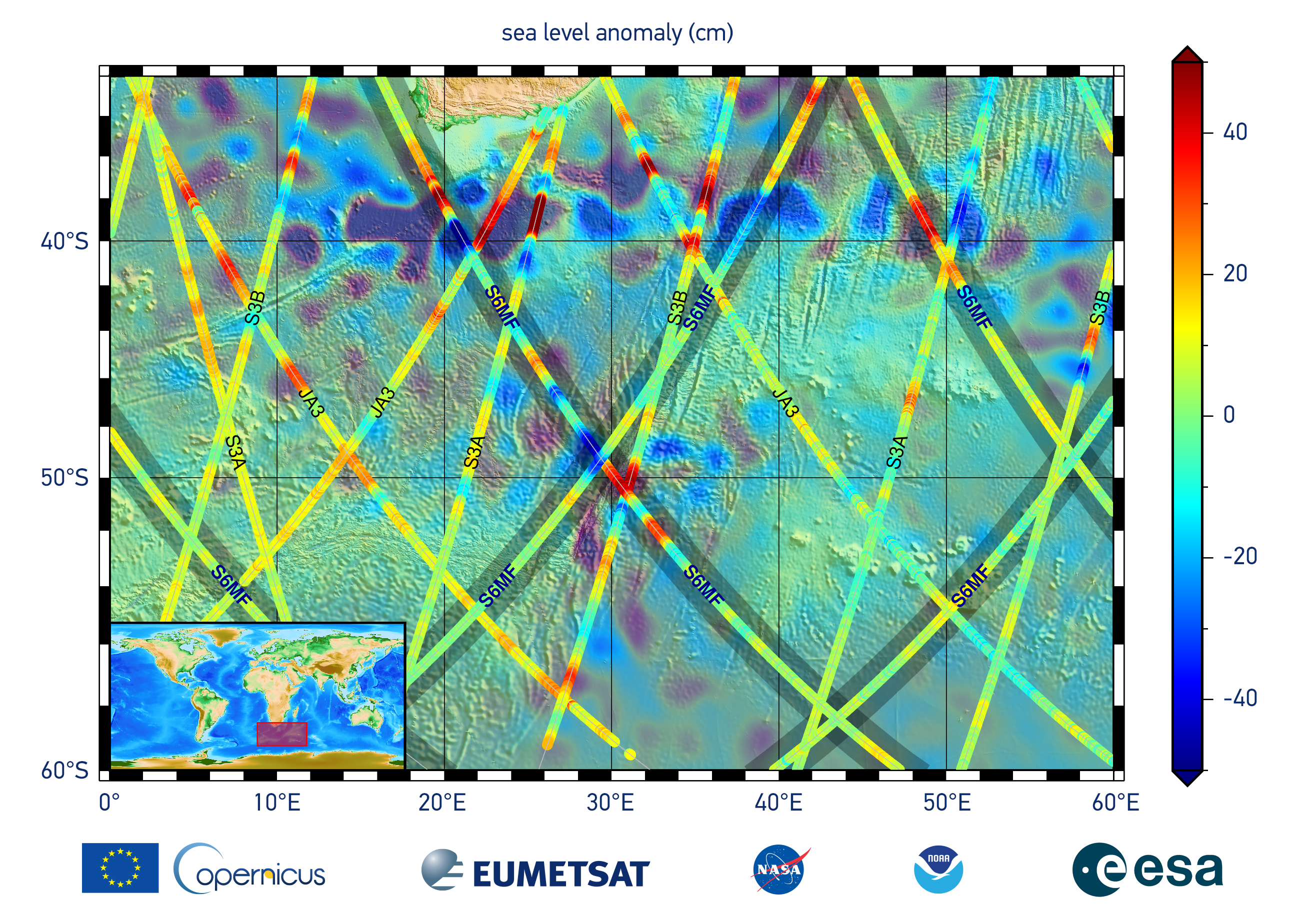 Sentinel 6 - Sea Level Anomaly - First Image