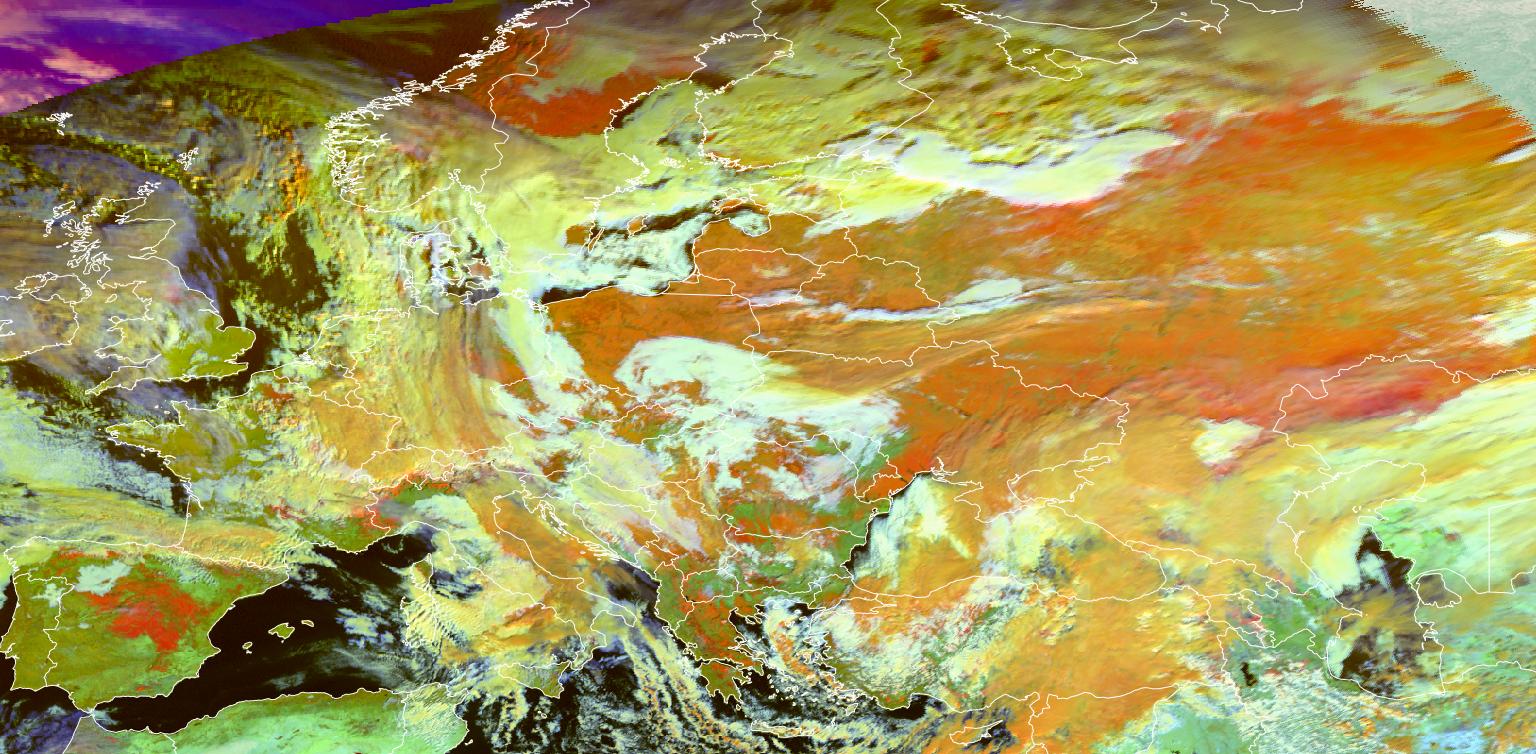Meteosat-11 Snow RGB