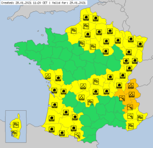 Meteoalarm warnings