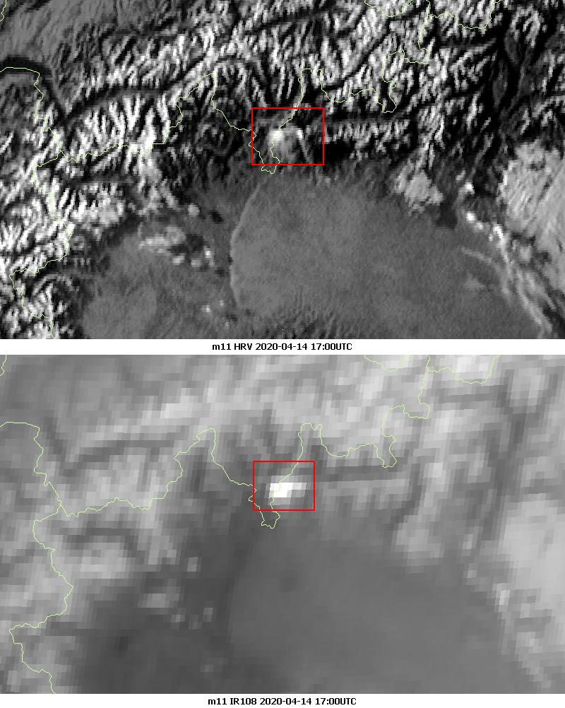 Meteosat-11 HRV and Infrared