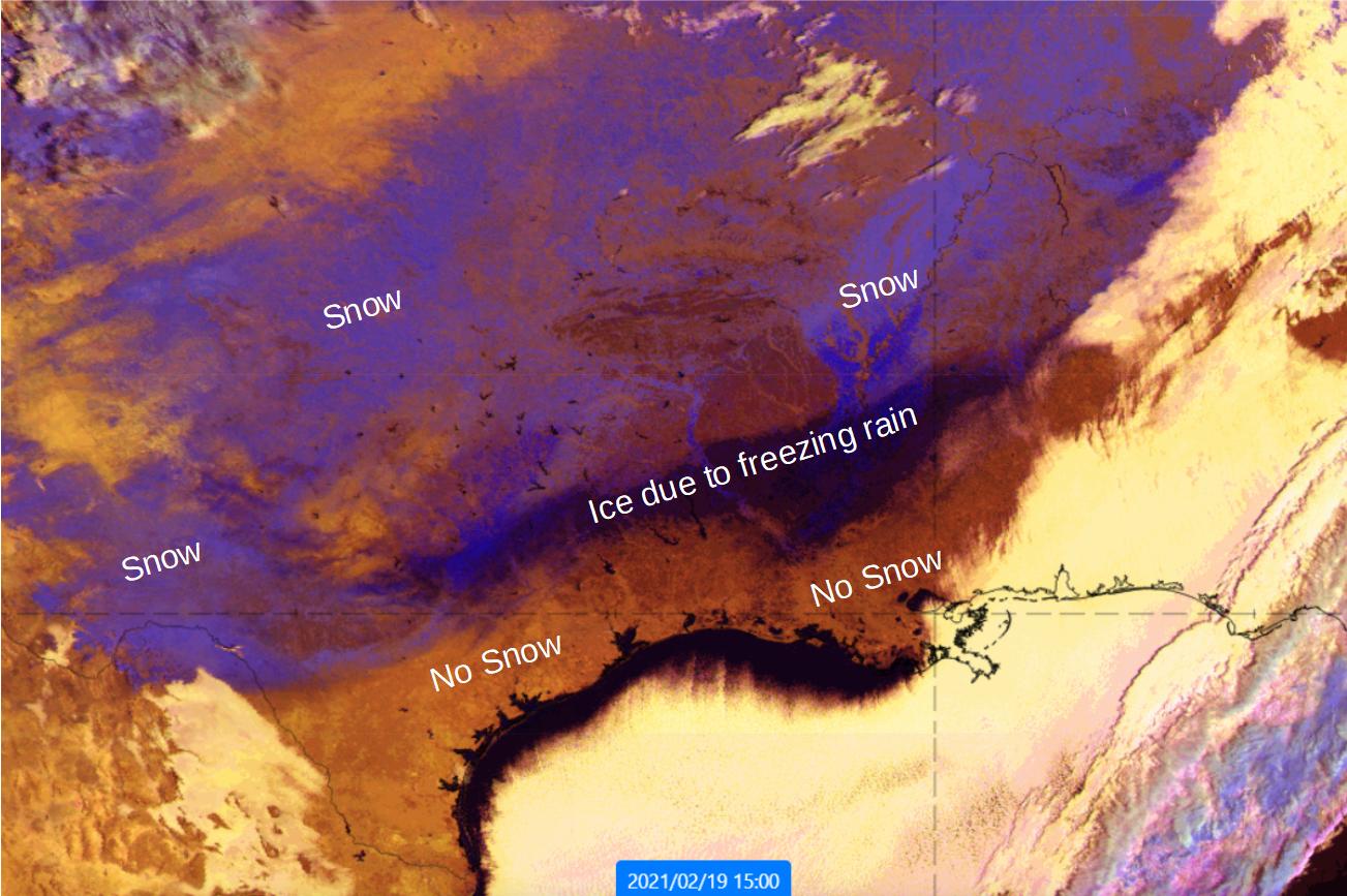 GOES-16 Cloud Phase RGB 19 Feb 2021