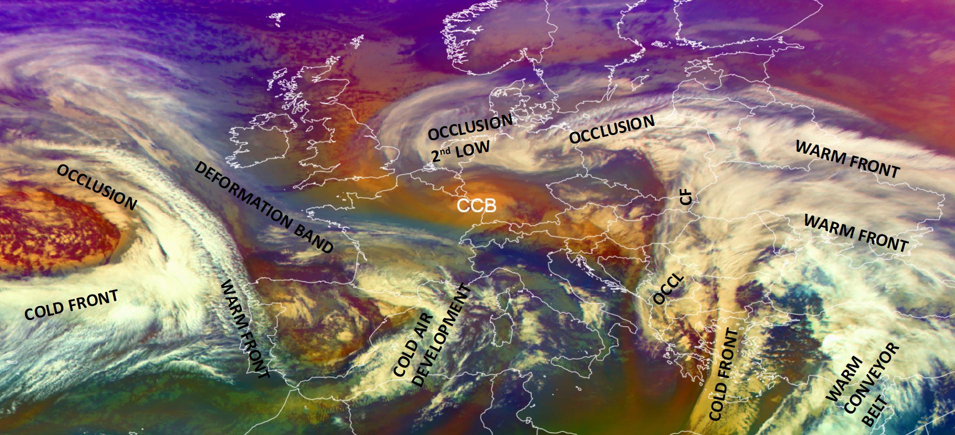 Meteosat-11 Airmass RGB, 8 Feb 2021