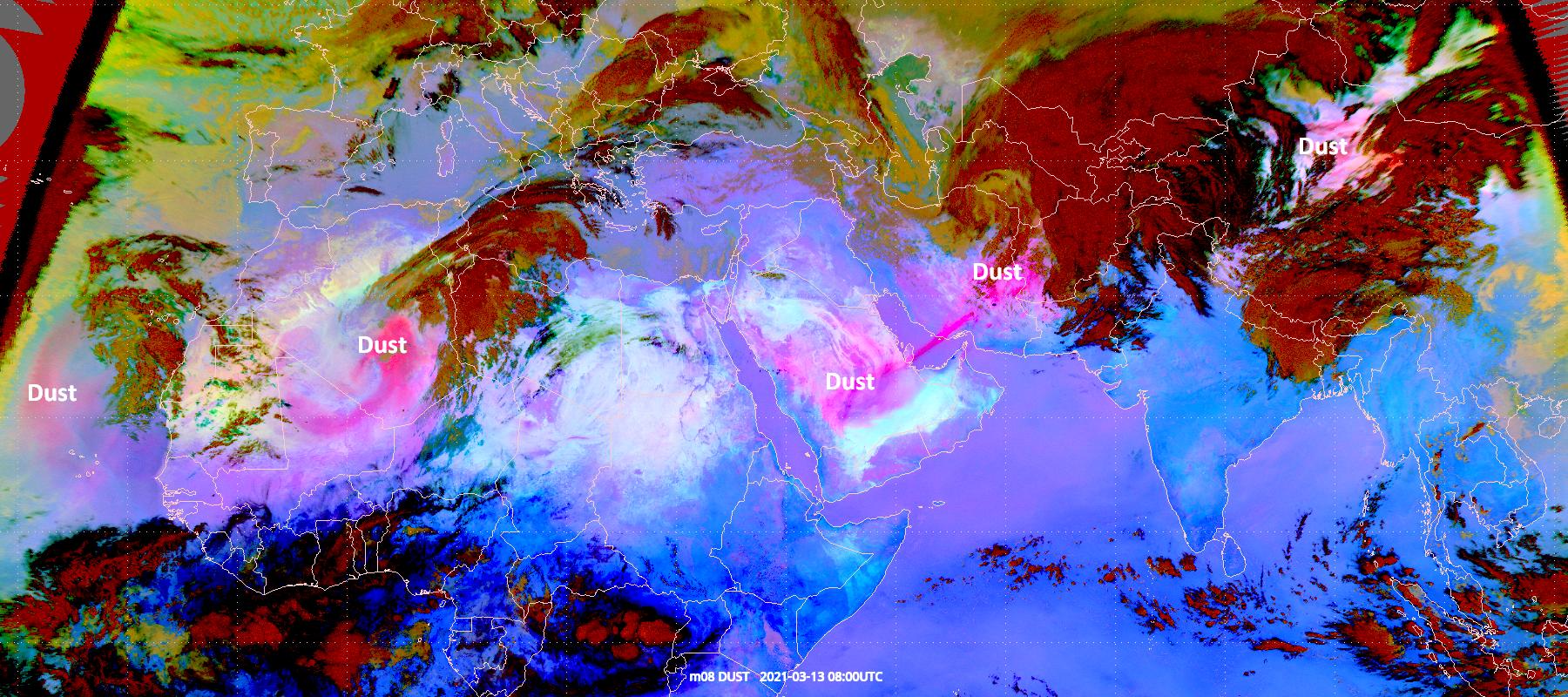 Met-8 Dust RGB 13 March 2021