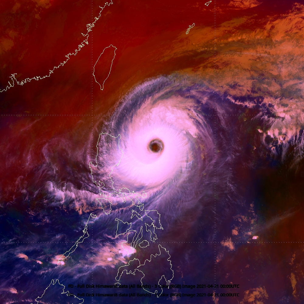 Himawari-8 Tropical Airmass, 21 April 2021