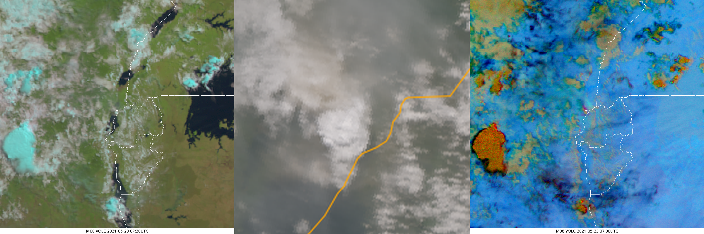 Met-8 and S3a imagery, 23 May 2021