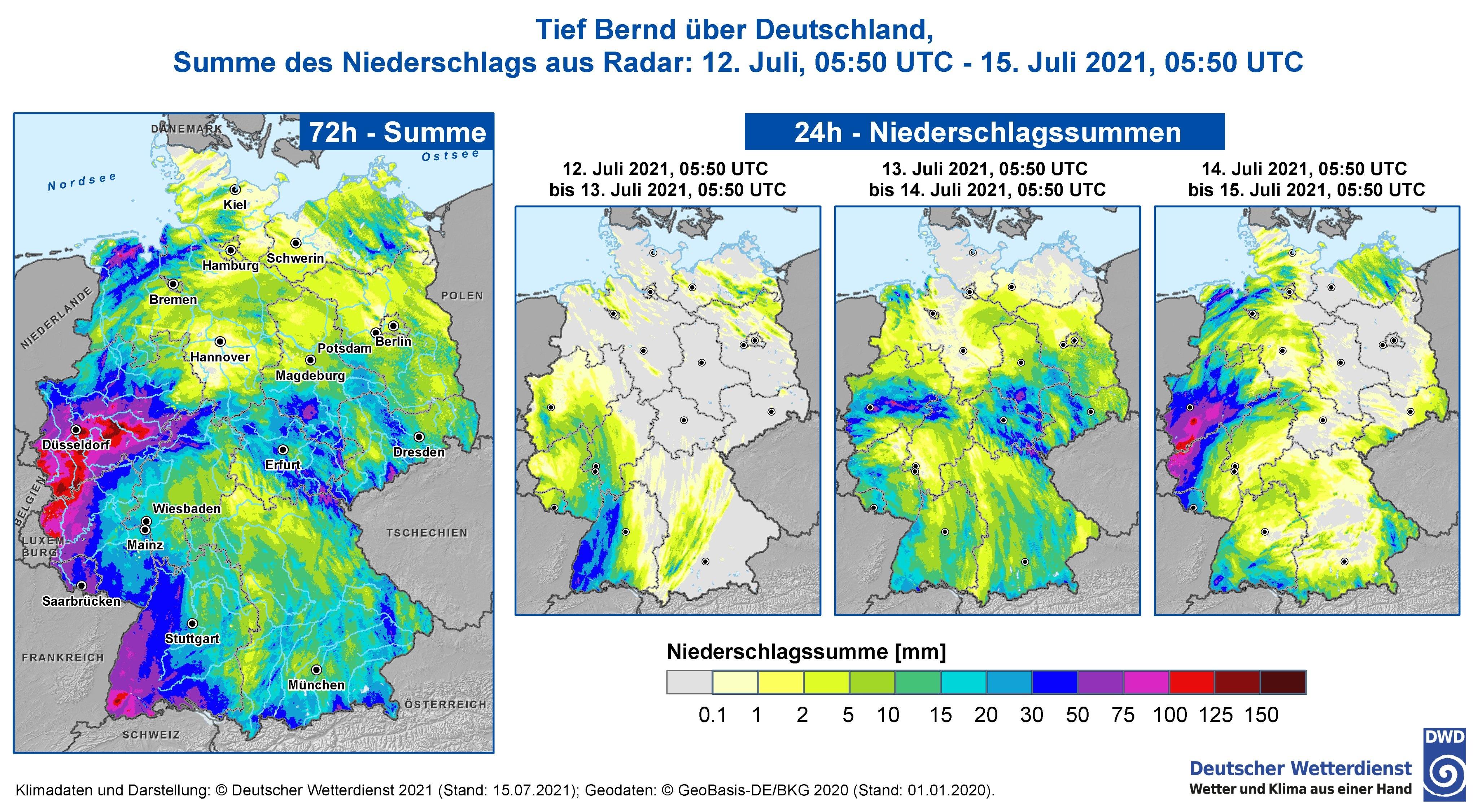 Precipitation accumulations for Germany