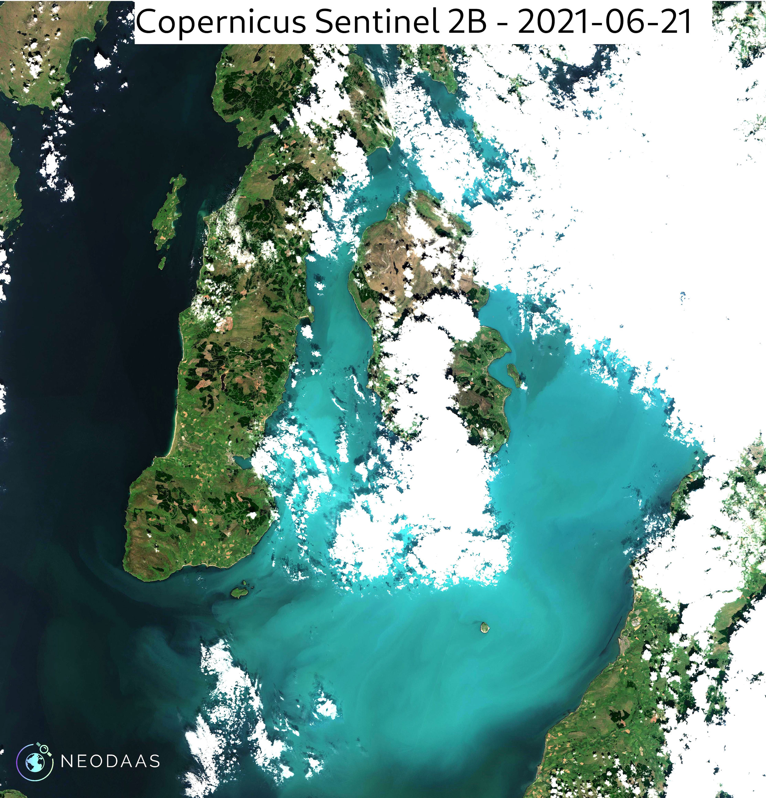 Sentinel-2 True Colour with enhanced contrast, 21 June