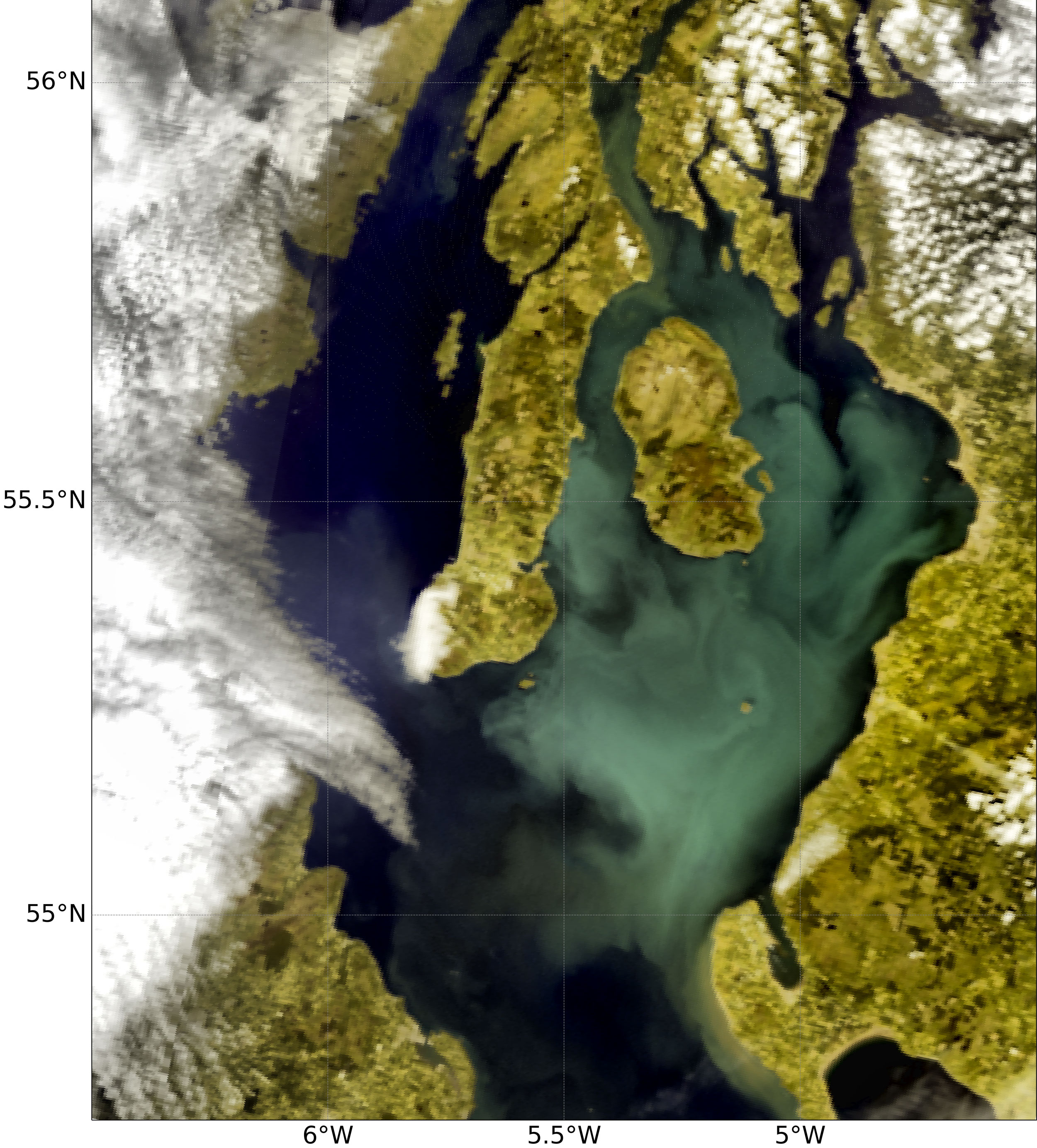 Sentinel-3 OLCI True colour with enhanced contrast, 29 June