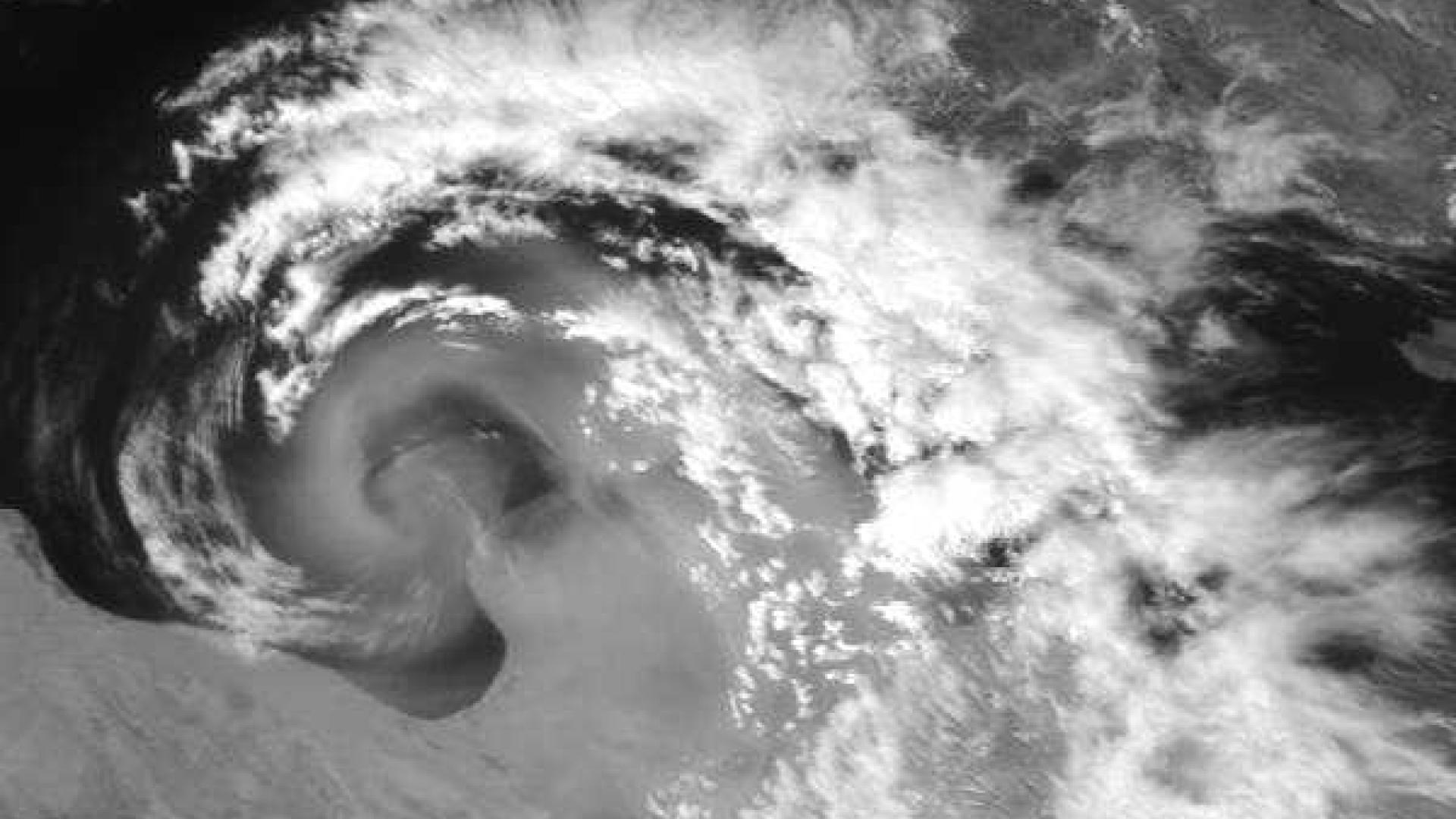 Dust cloud generated by synoptic system over the Mediterranean Sea