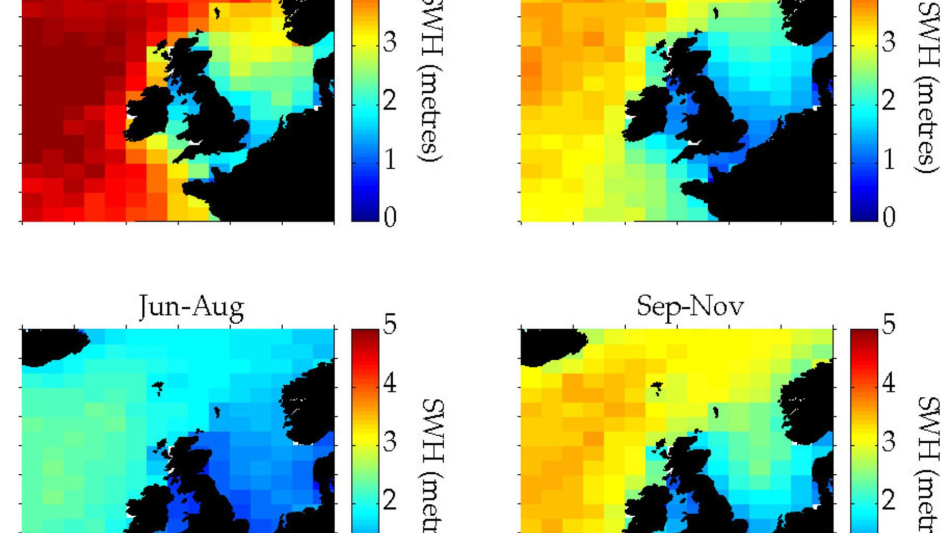 Altimeters monitor wave heights around the British Isles