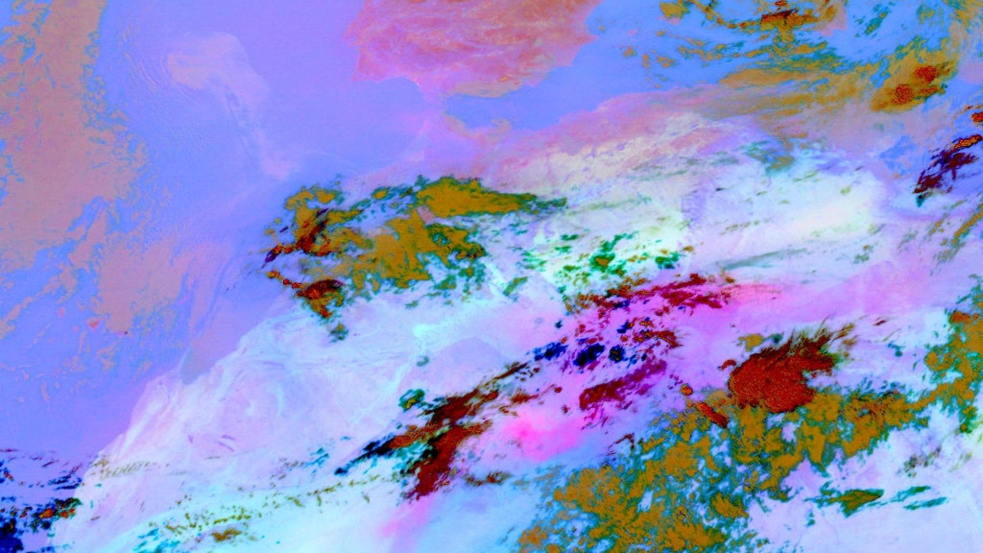 Monitoring airmass/moisture boundaries with MSG