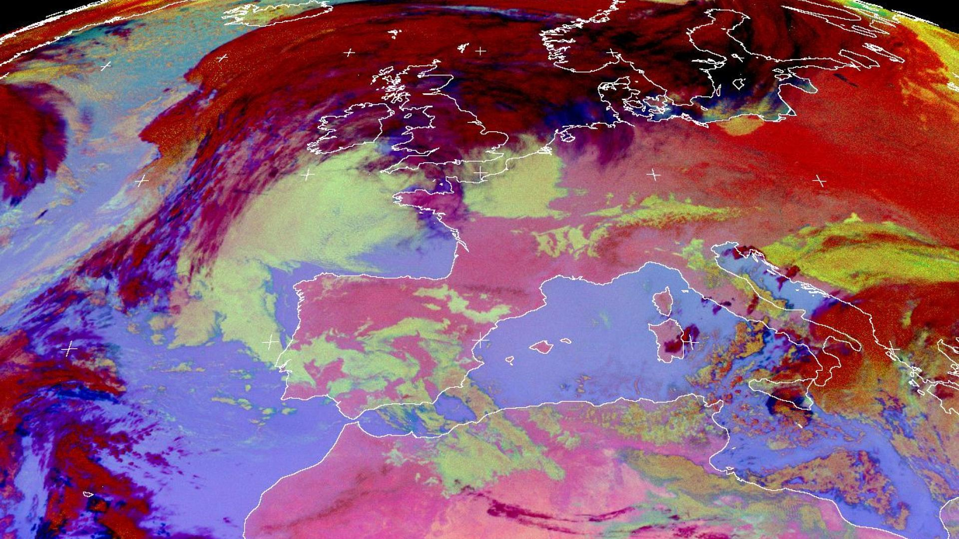 Russian cold air reaches Central Europe