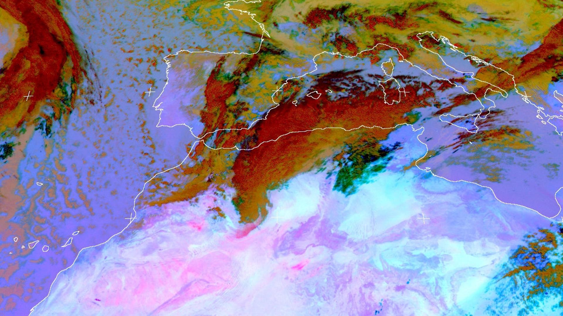 Dust storm over North Africa & Eastern Med