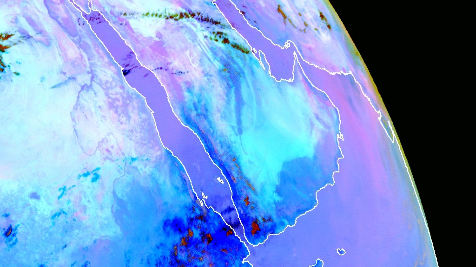 Moisture boundary across the Arabian Peninsula