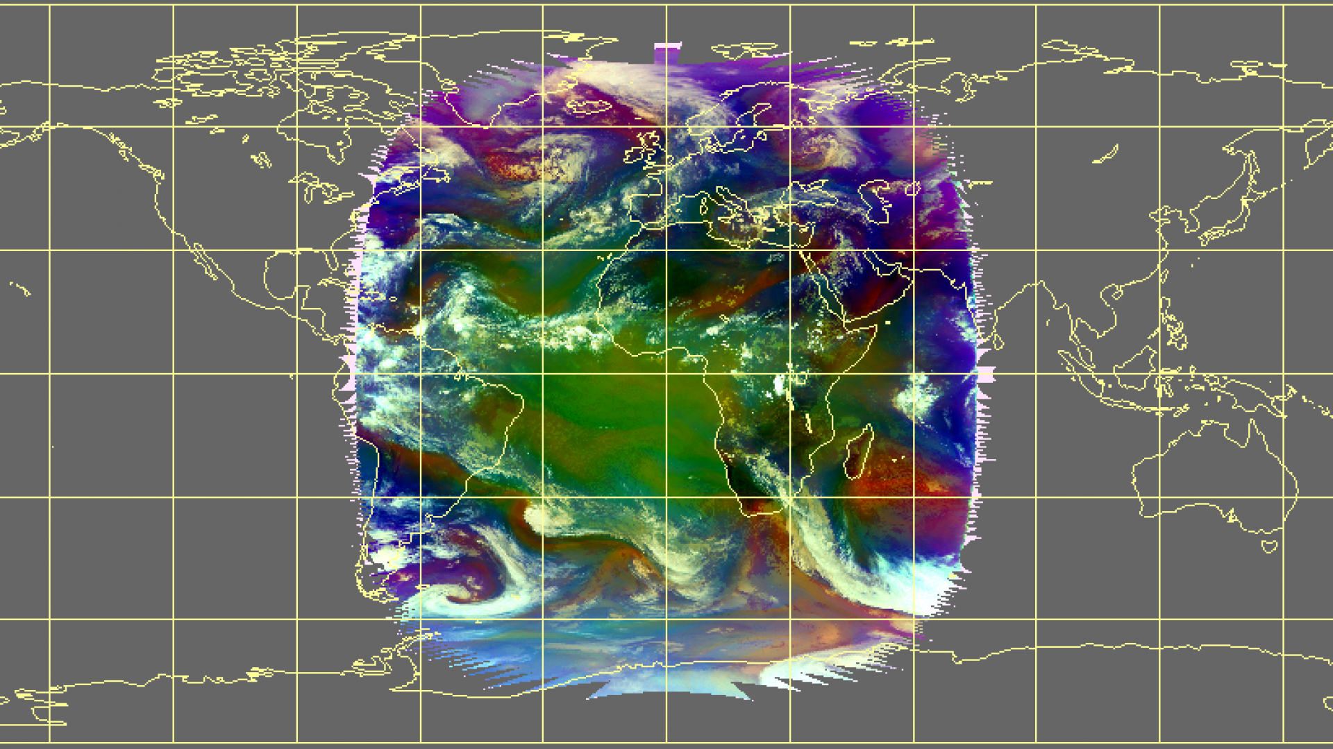 Global ozone distribution as seen in Airmass RGB