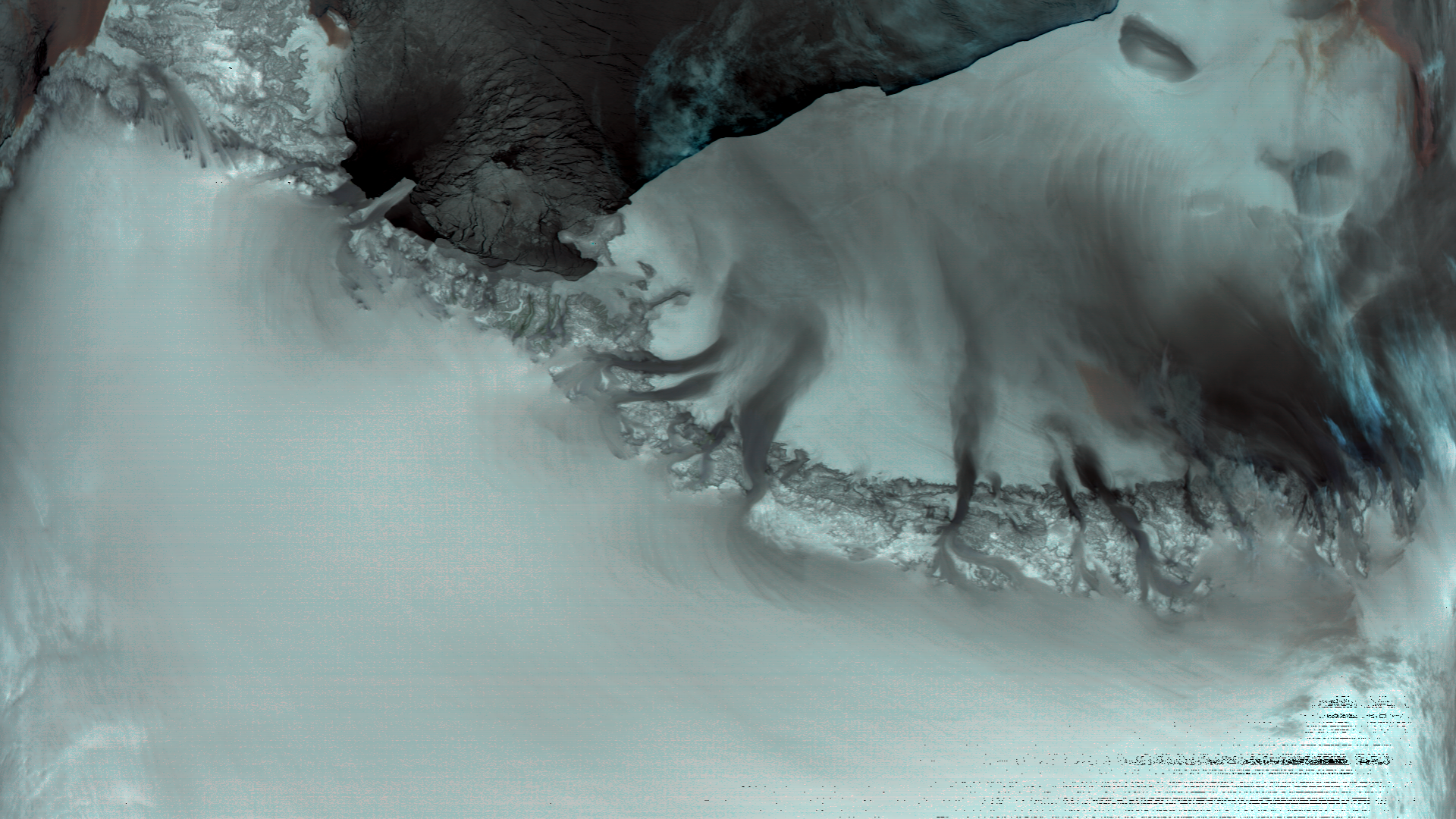 Katabatic winds over Antarctica