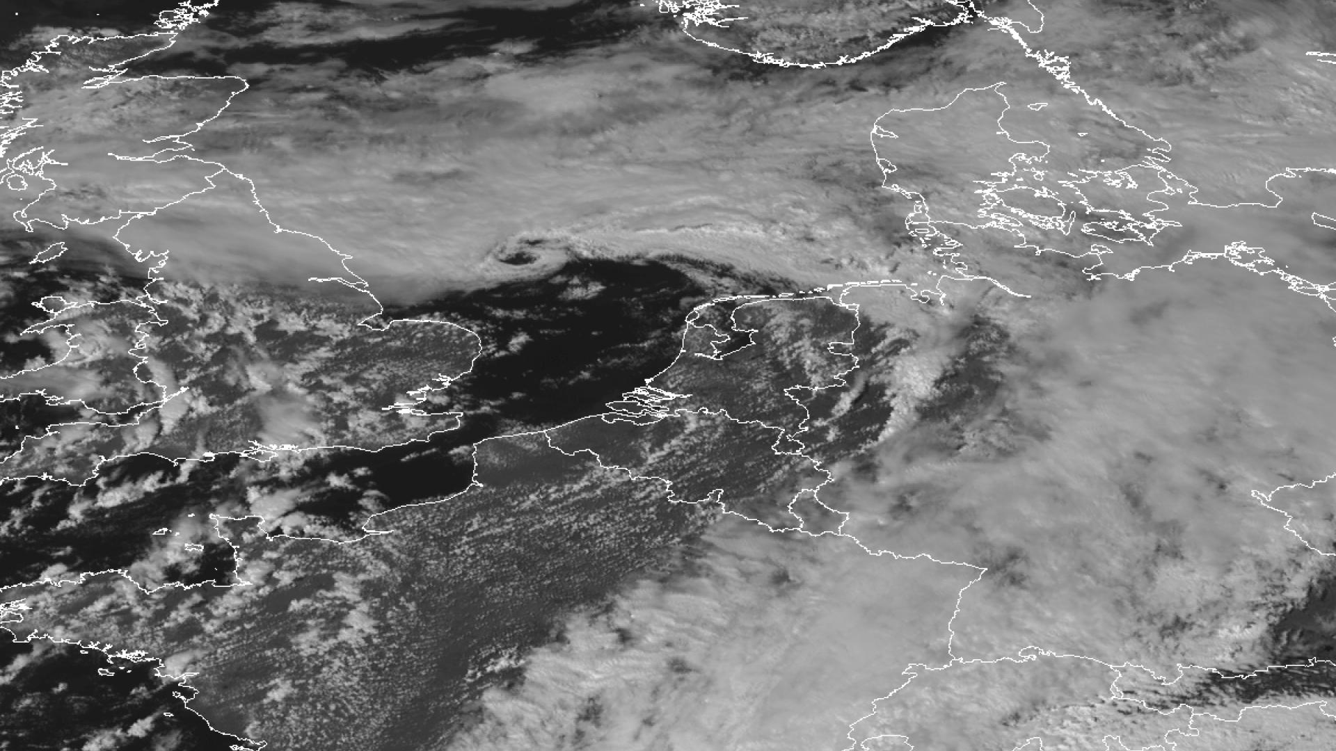 North Sea mini cloud vortex
