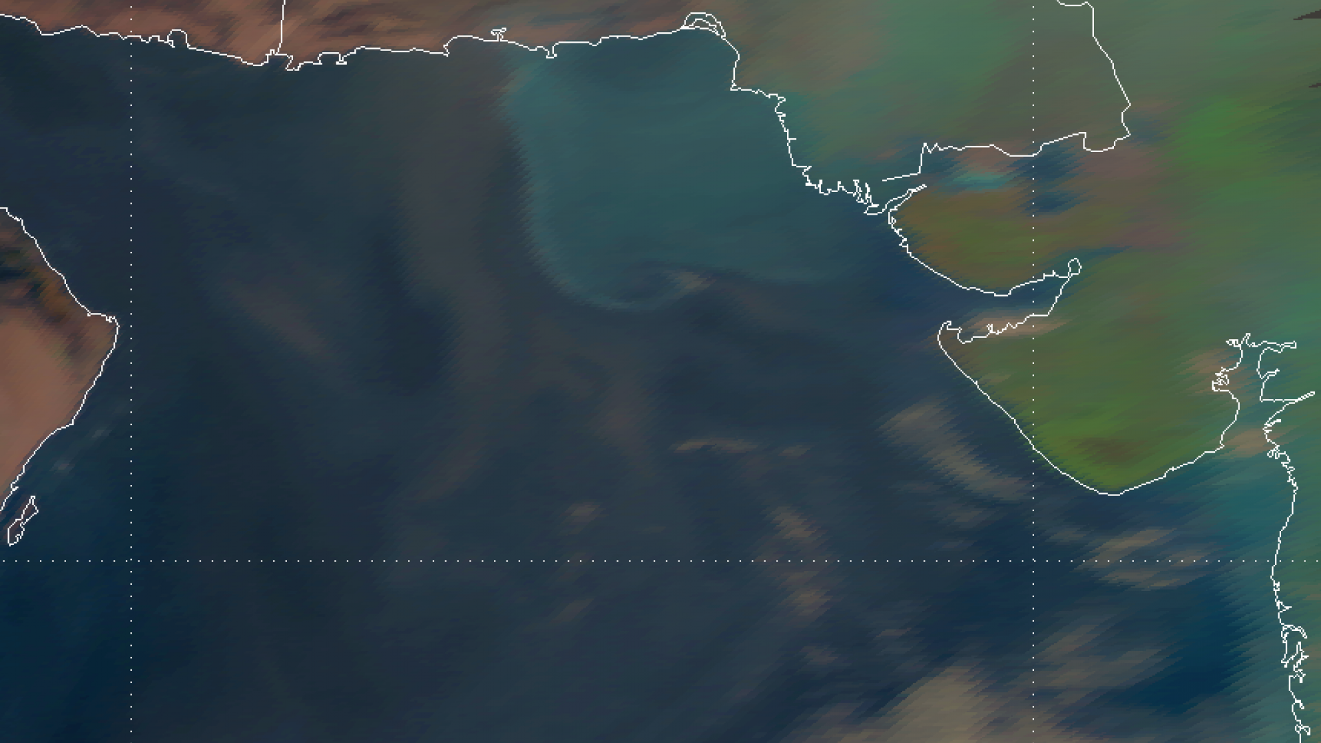 Haze veil on the Pakistani coast