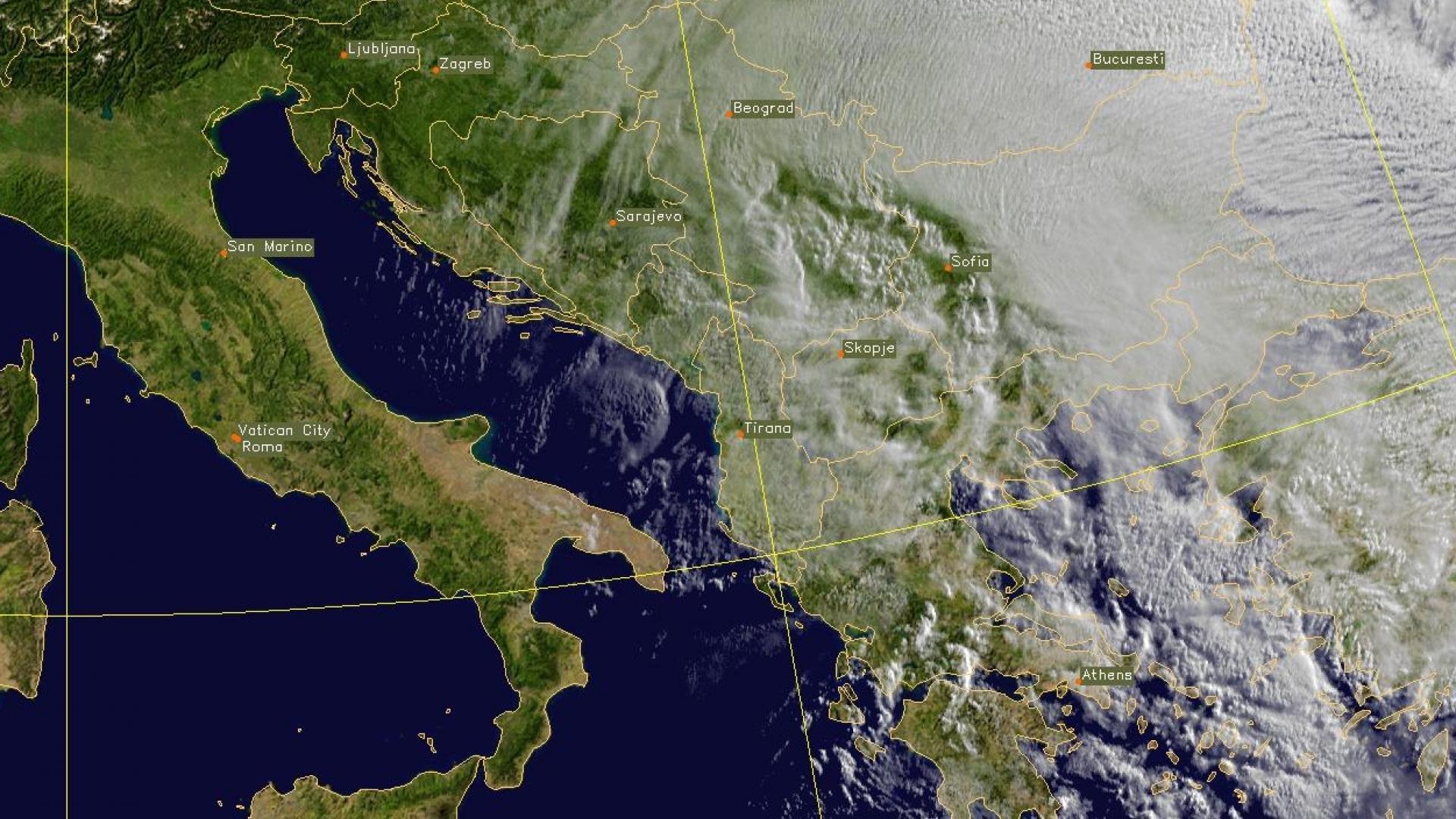 Dusty Cirrus over Romania