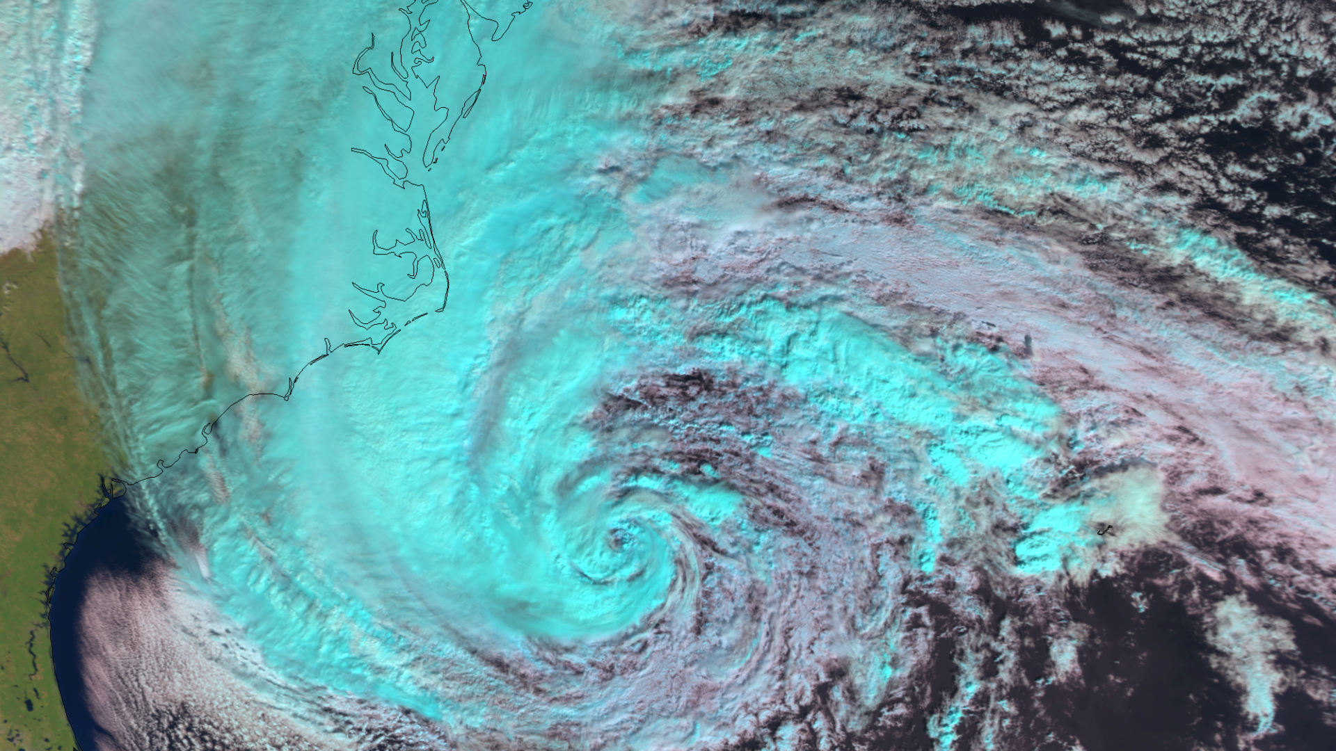 Hurricane Sandy hits the USA