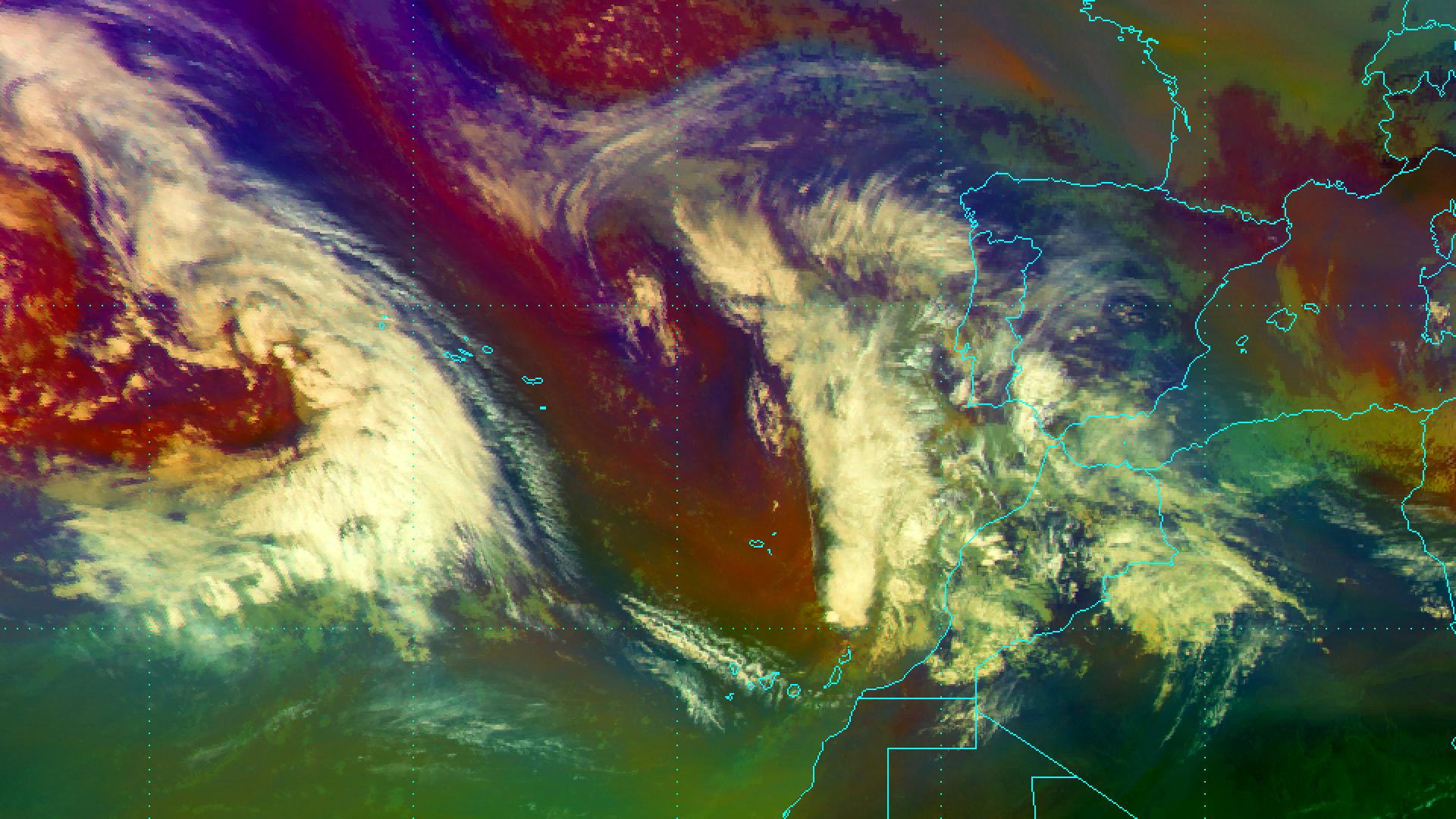 Atlantic storm brings heavy rain