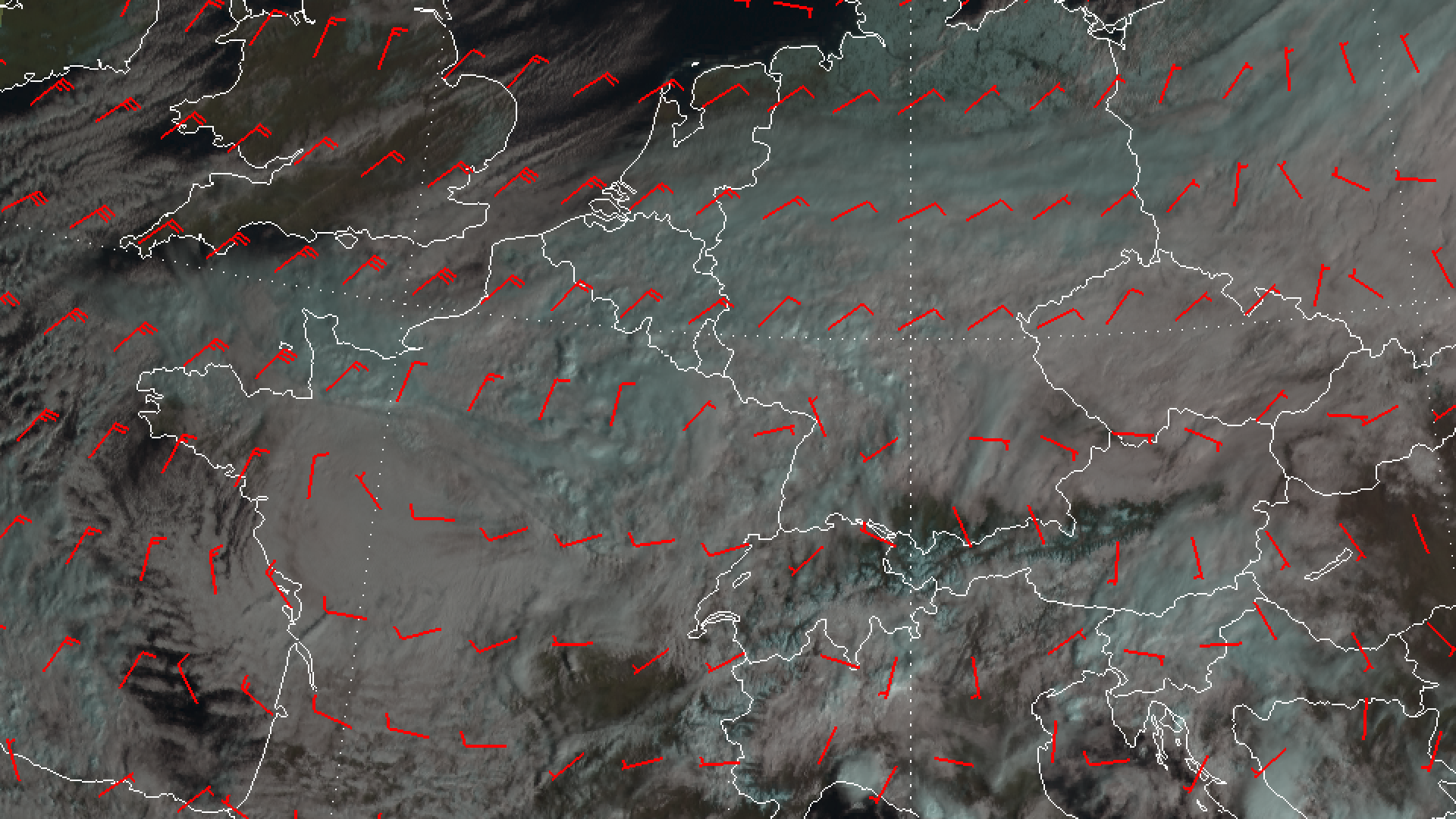Low pressure system produced ontrasting weather across Europe