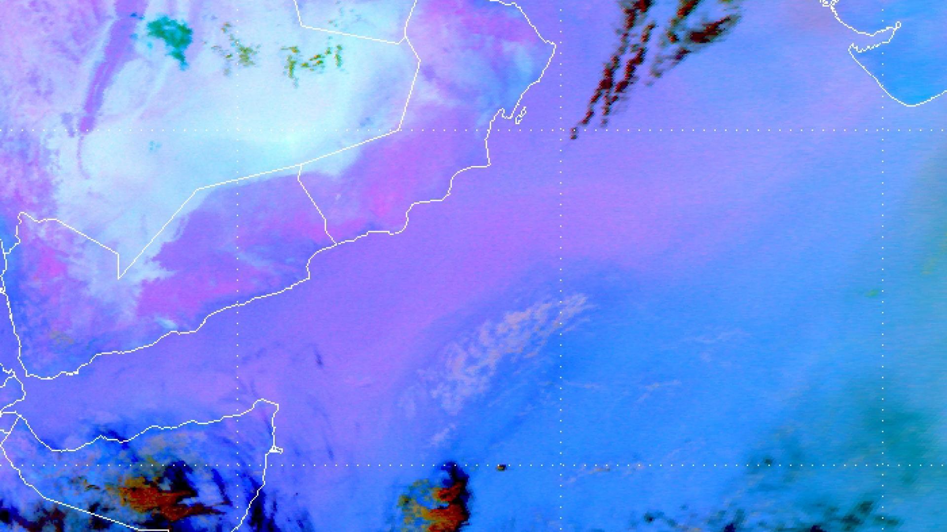 Dust veil over the Arabian Sea