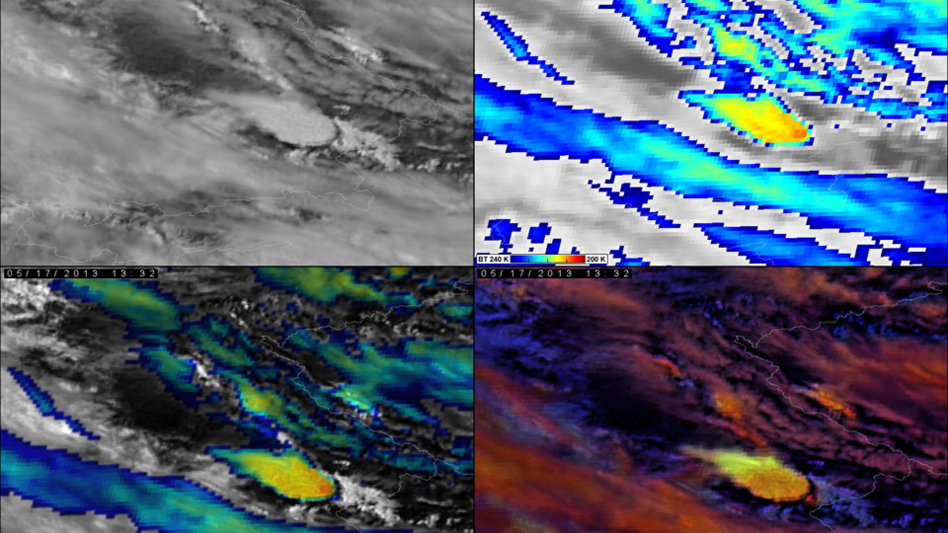 First 2.5 minute rapid scan test from Meteosat-8