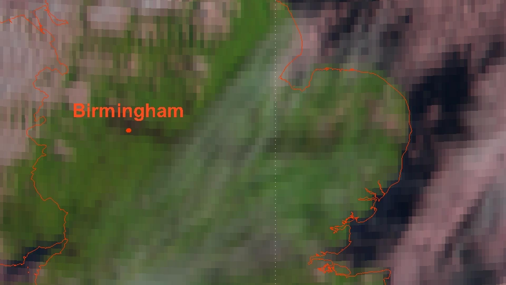 Smoke from major fire in the UK