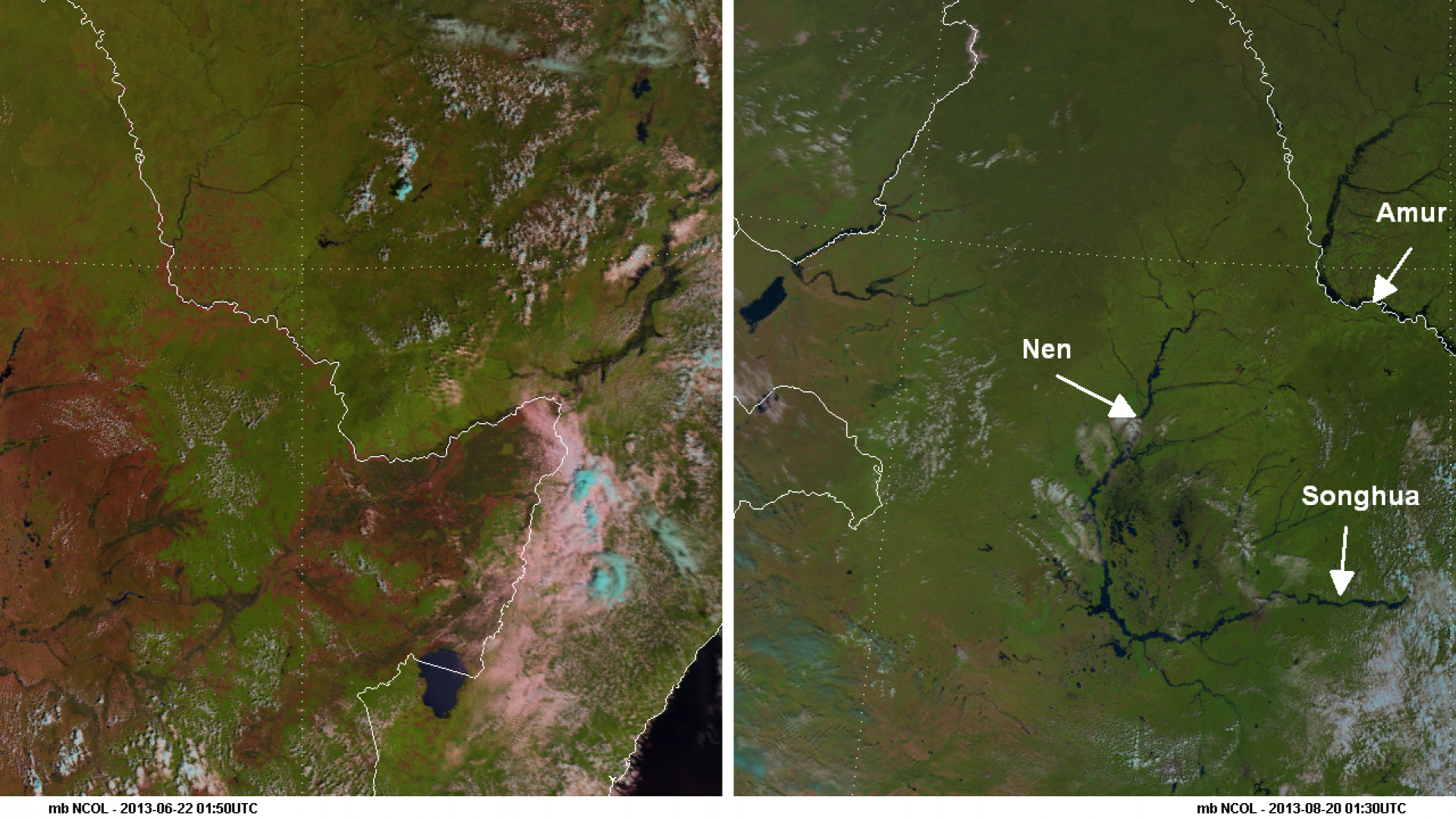 Flooding in Russia and China