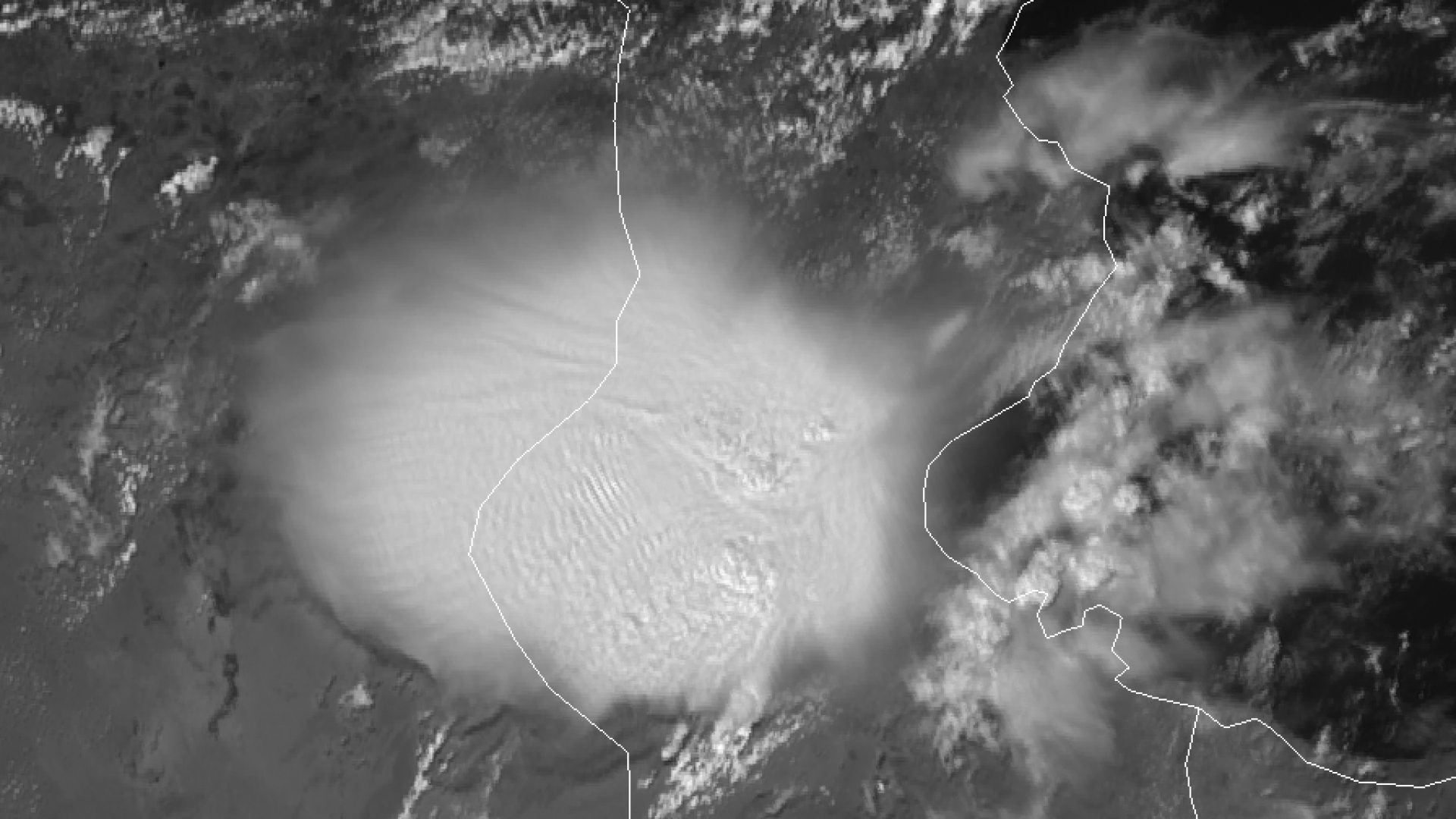 Large convective system develops over Tunisia