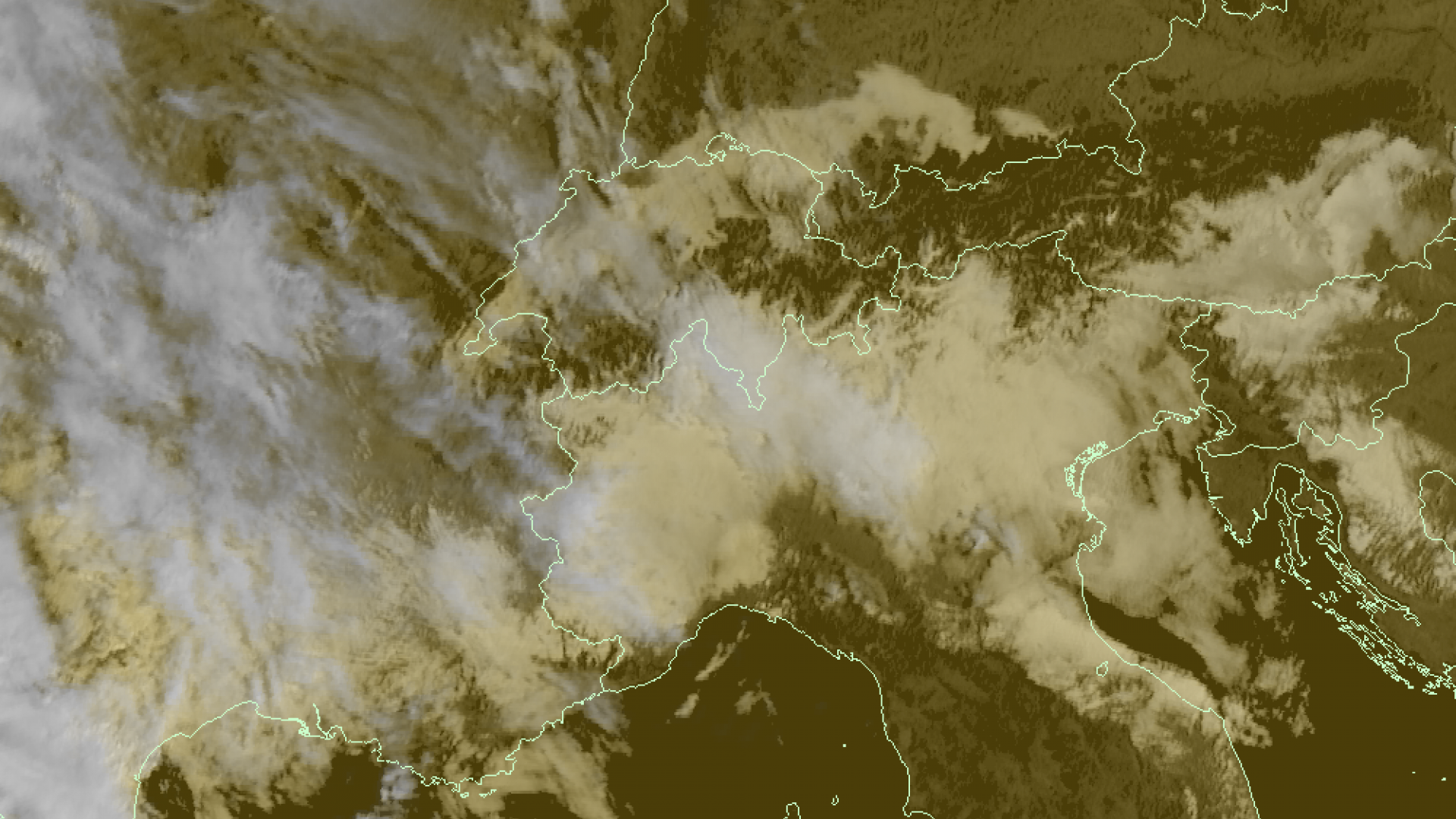 Cloudy over the southern Alpine valleys