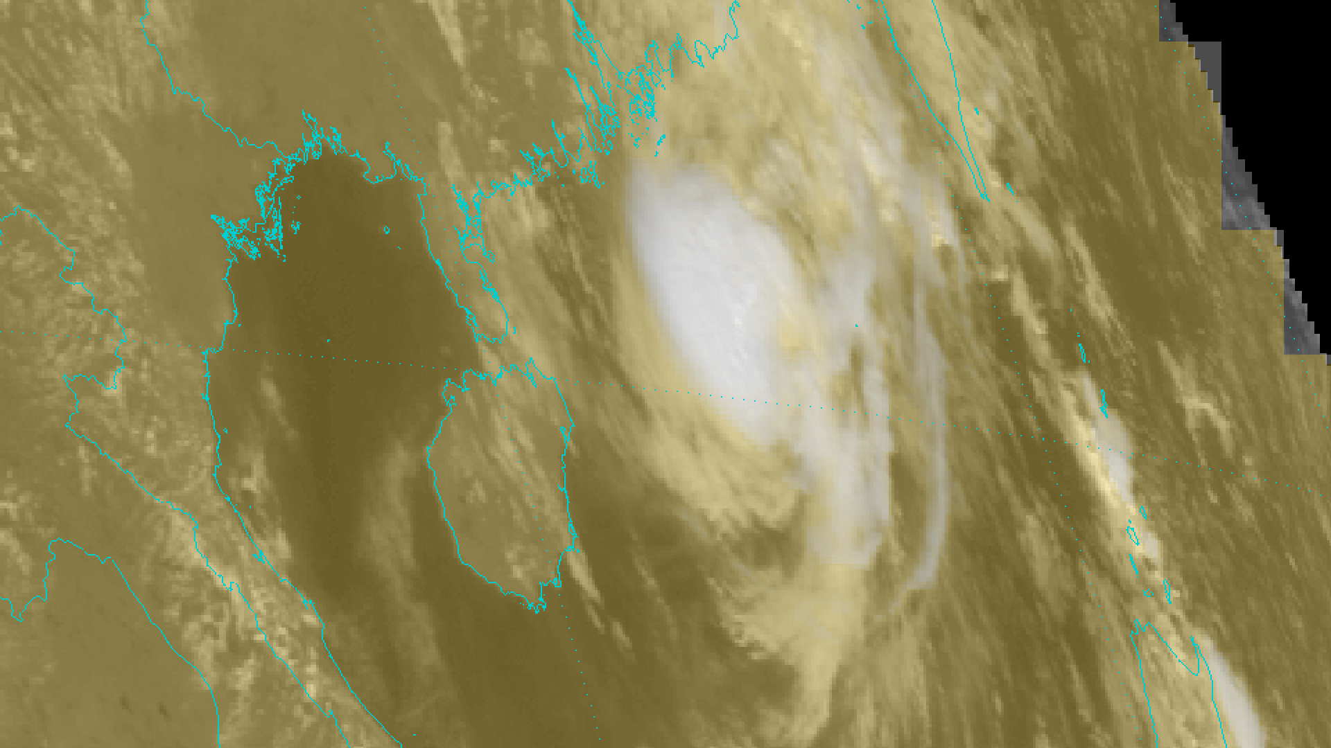 Typhoon Krosa over the South China Sea