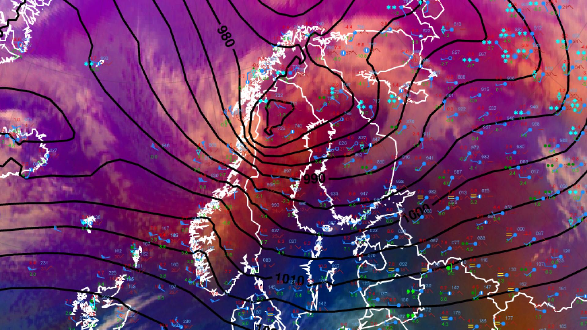 Storms over Scandinavia