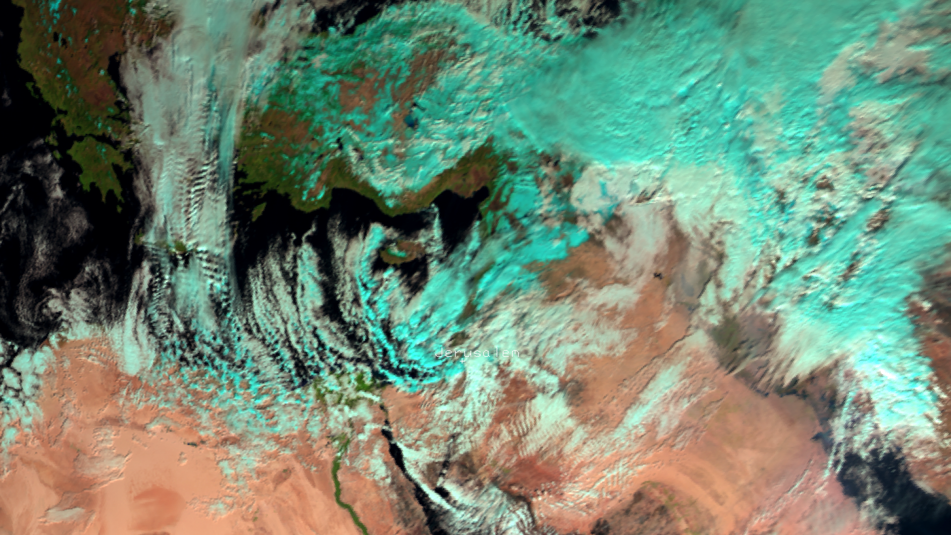 Snow storms hit the Middle East