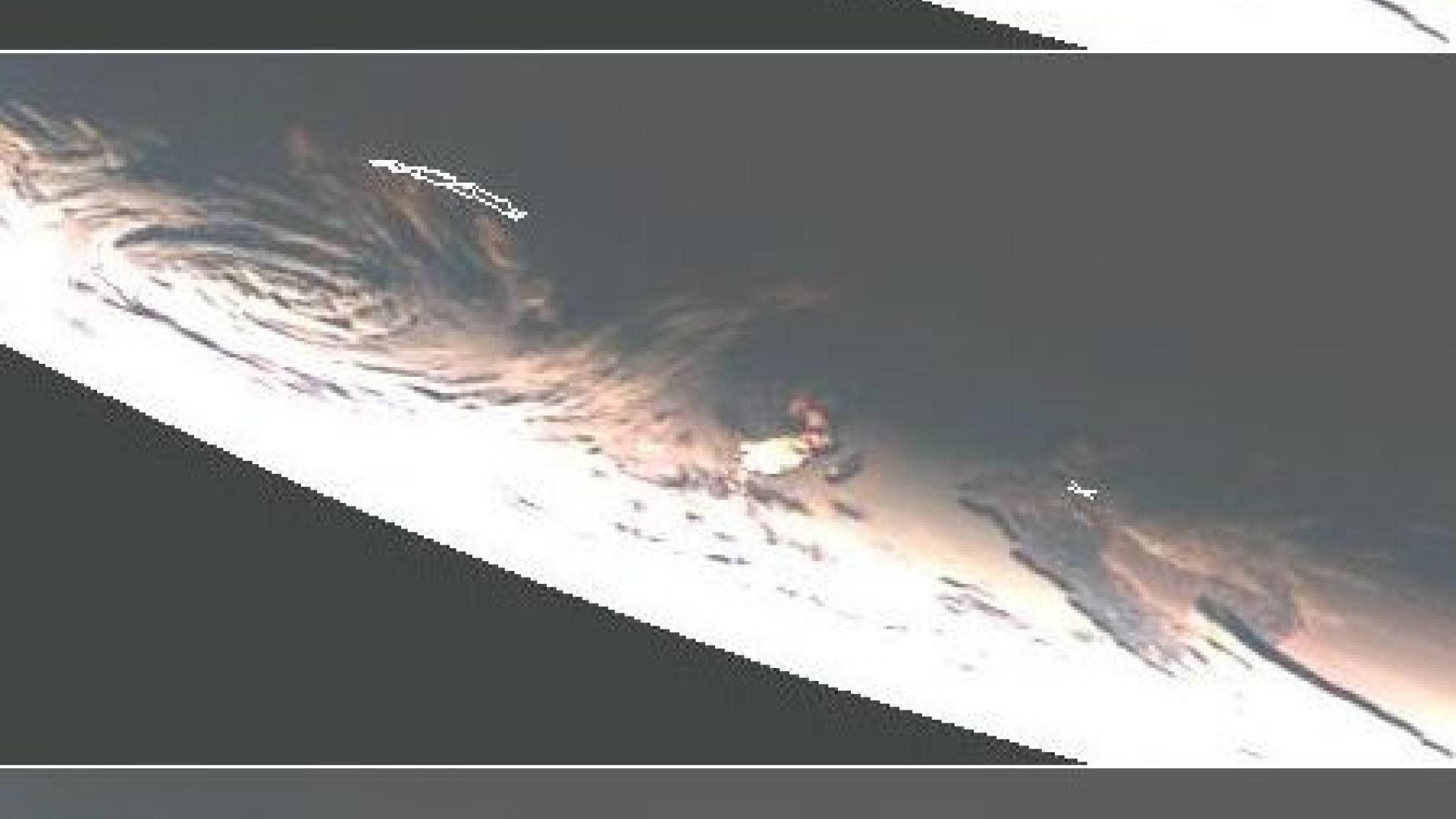 Meteosat sunglint on the Southern Ocean around solstice