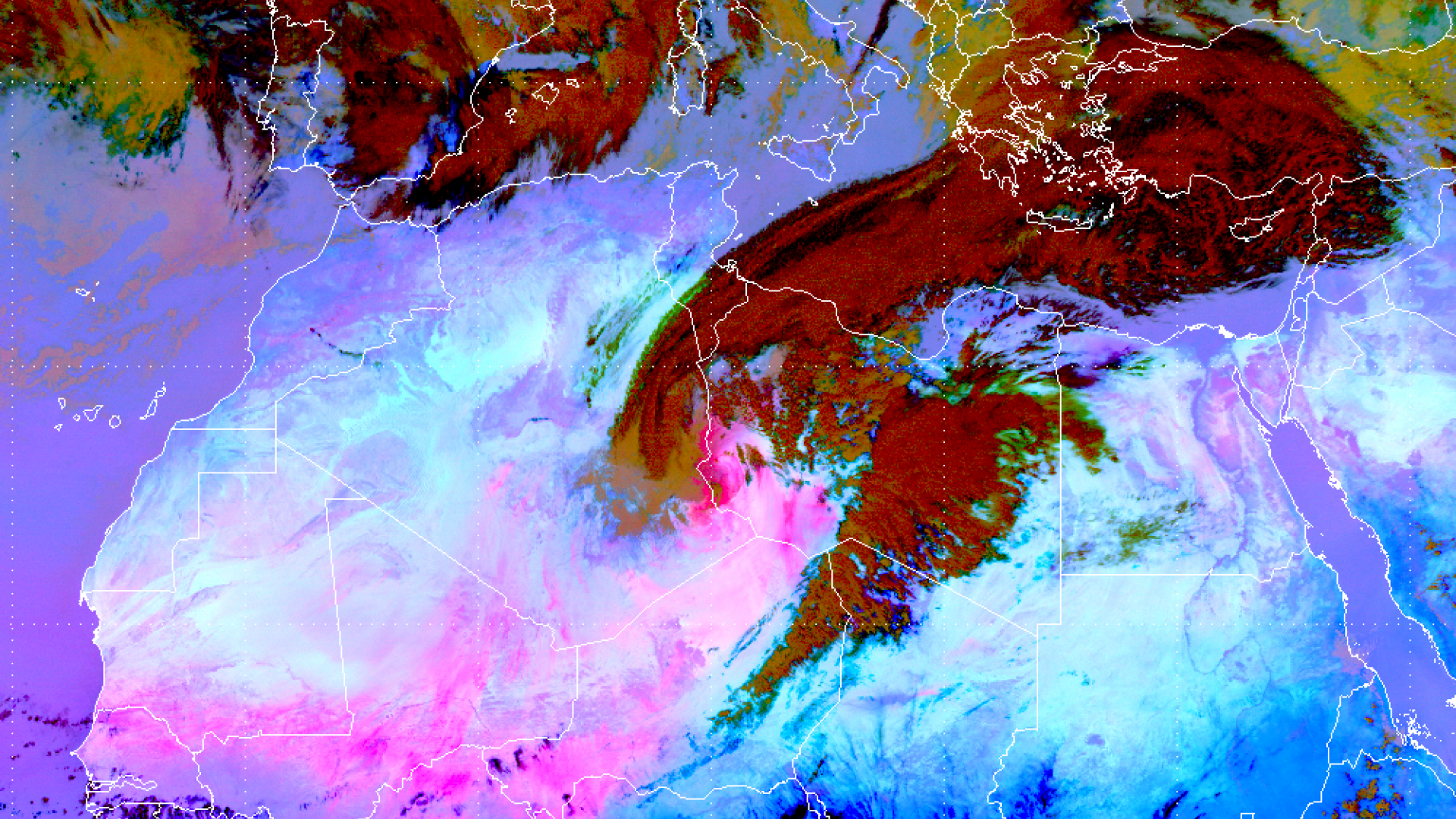 African cyclone transports dust across the Mediterranean Sea to Turkey