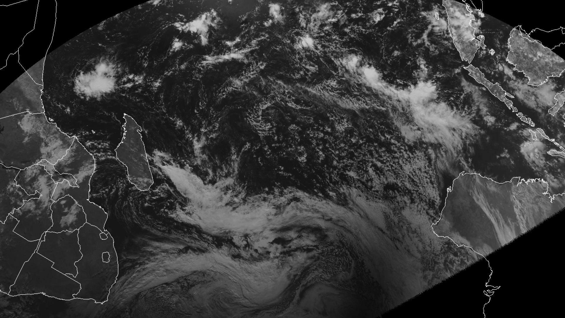 Annular solar eclipse over Antarctica