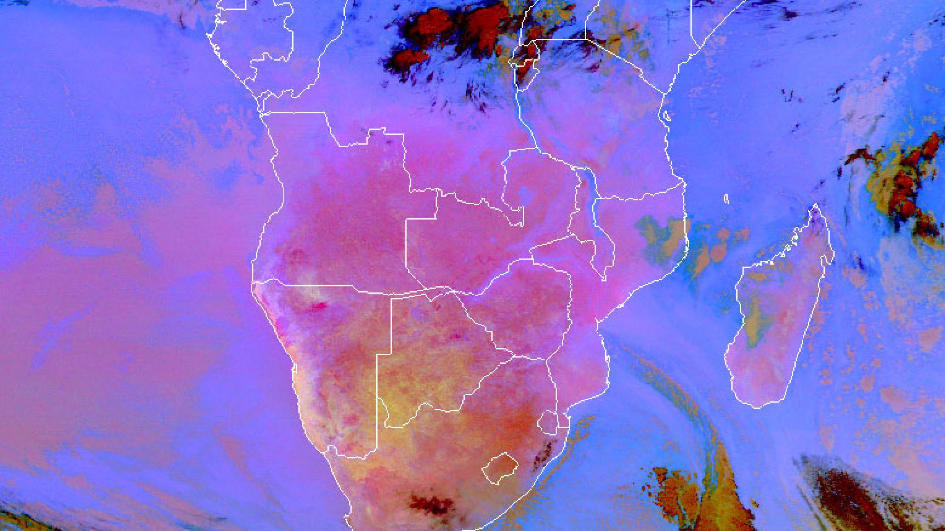 Early cold wave in Southern Africa