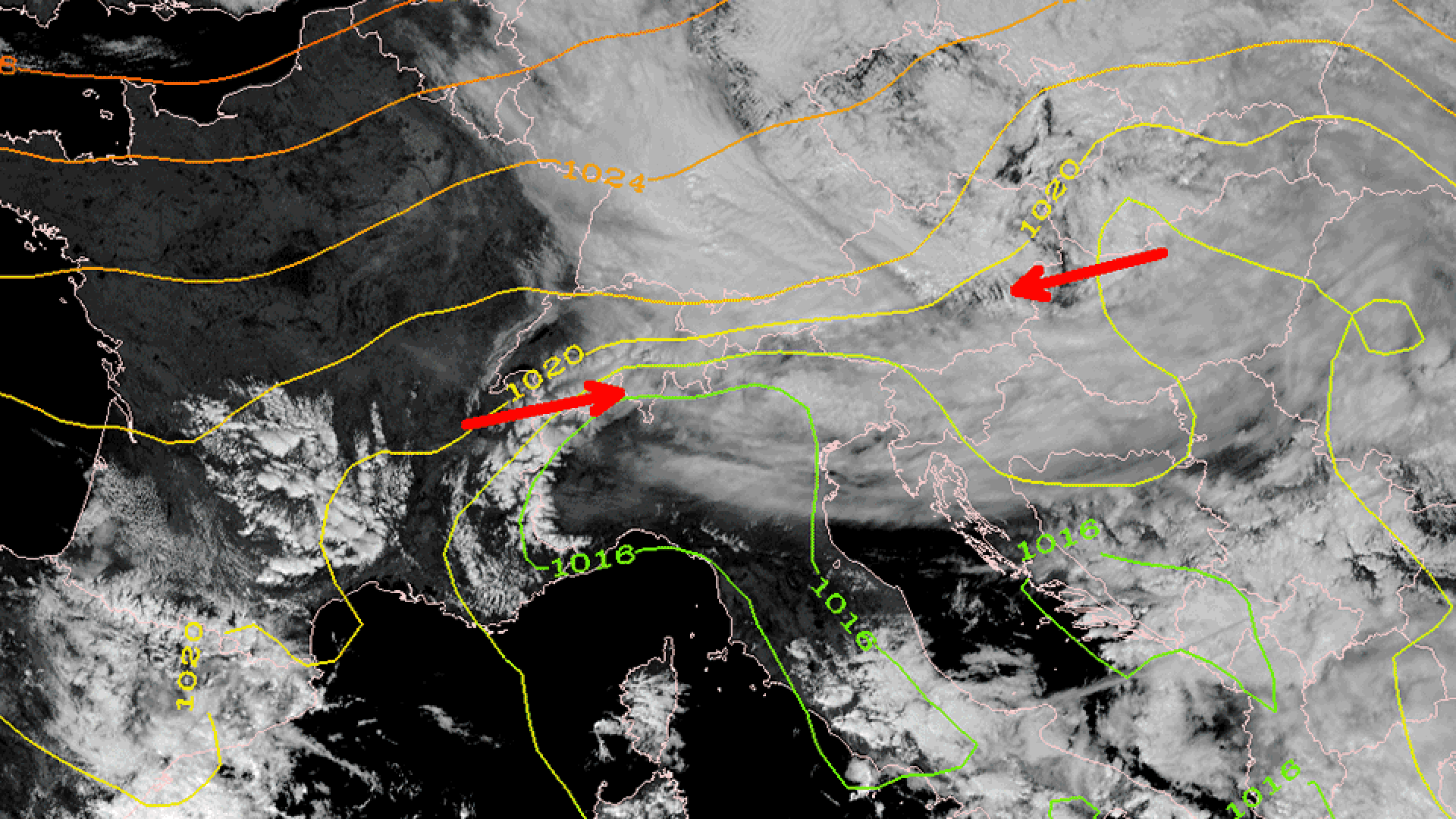 Upper-Level Low (ULL) over northern Europe