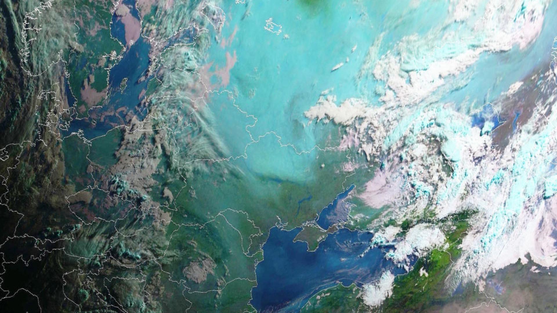 Widespread smoke over Russia