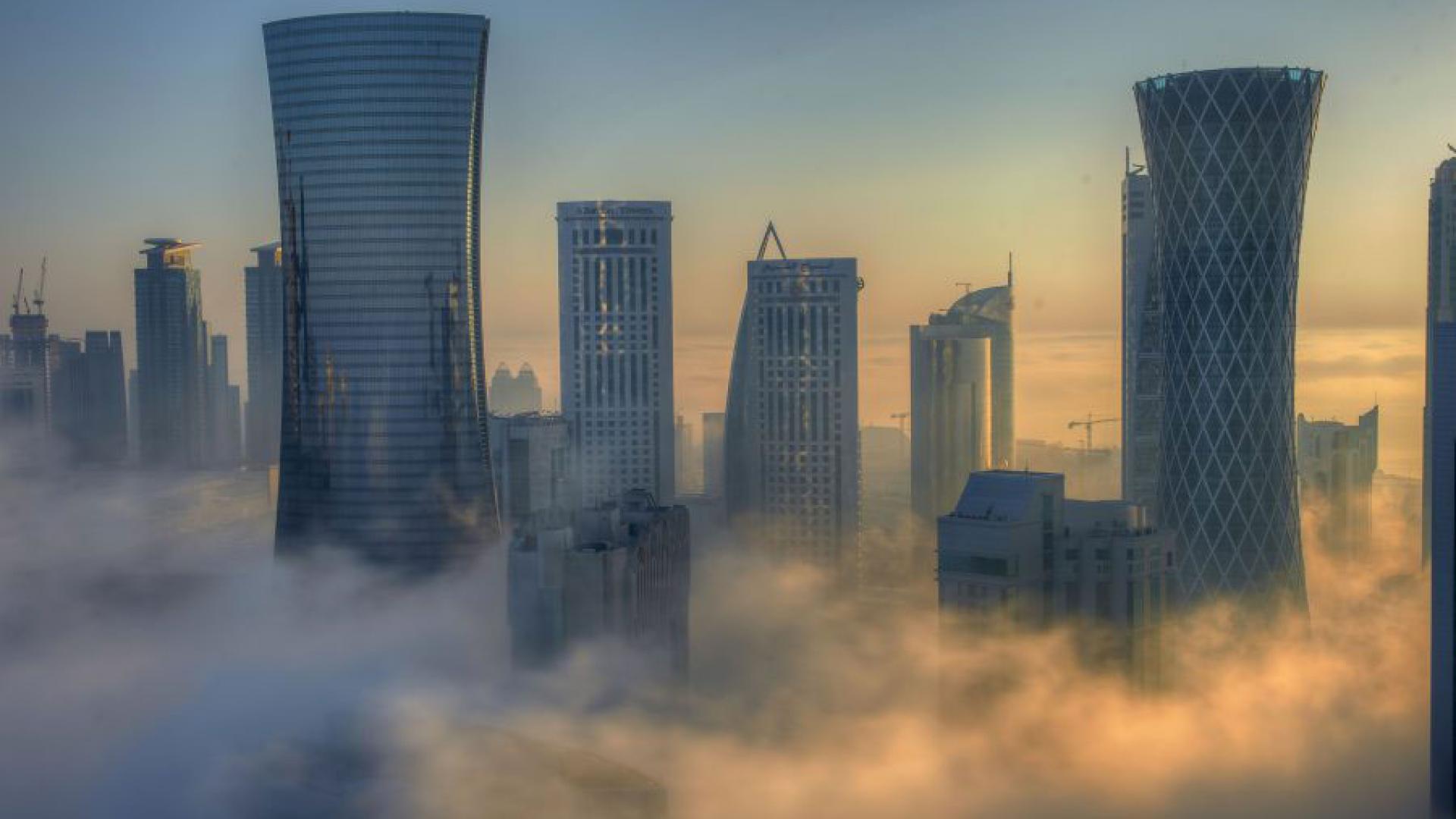 Lingering fog over the Arabian Peninsula