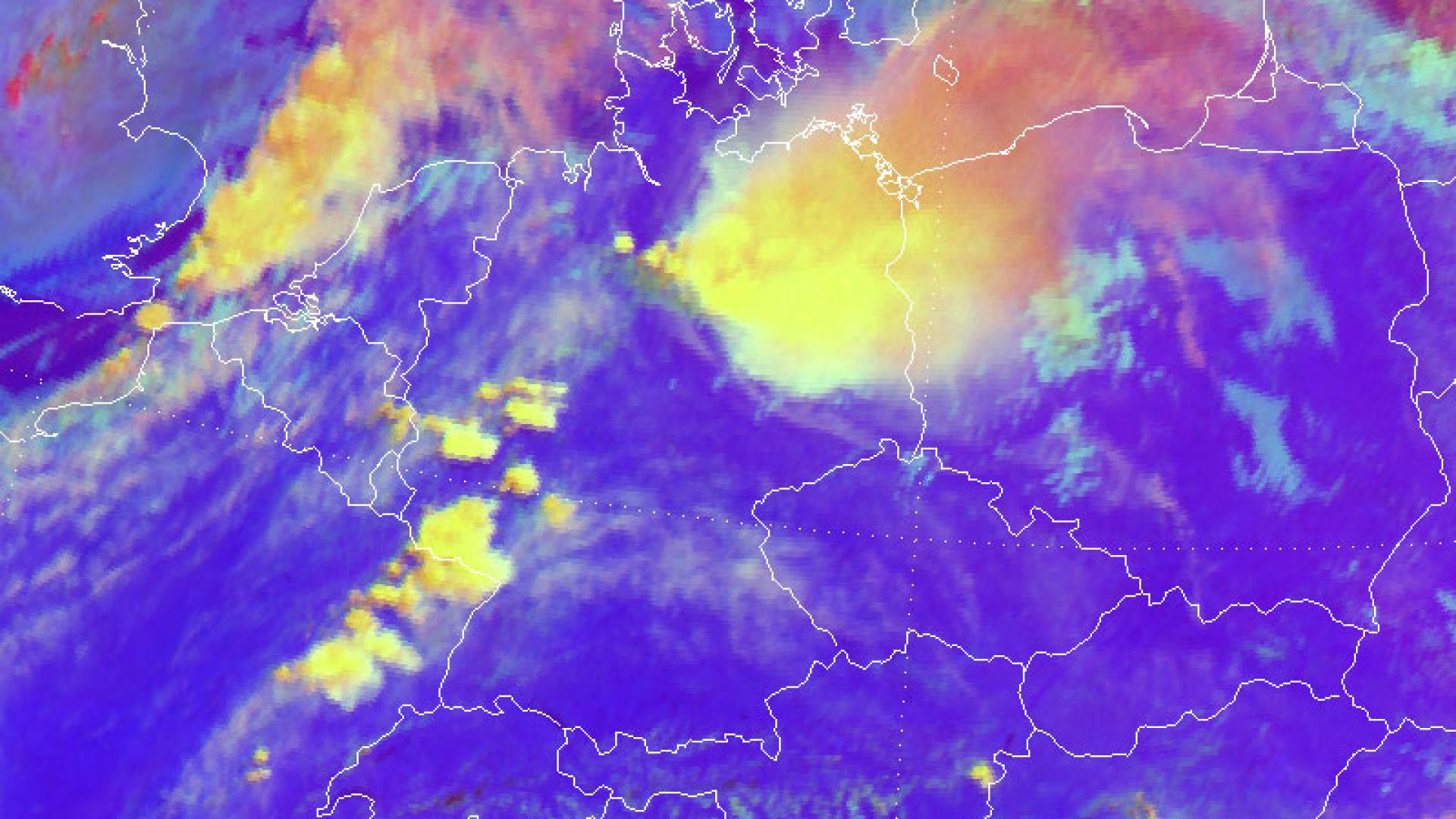 Thunderstorms over parts of Eastern Europe