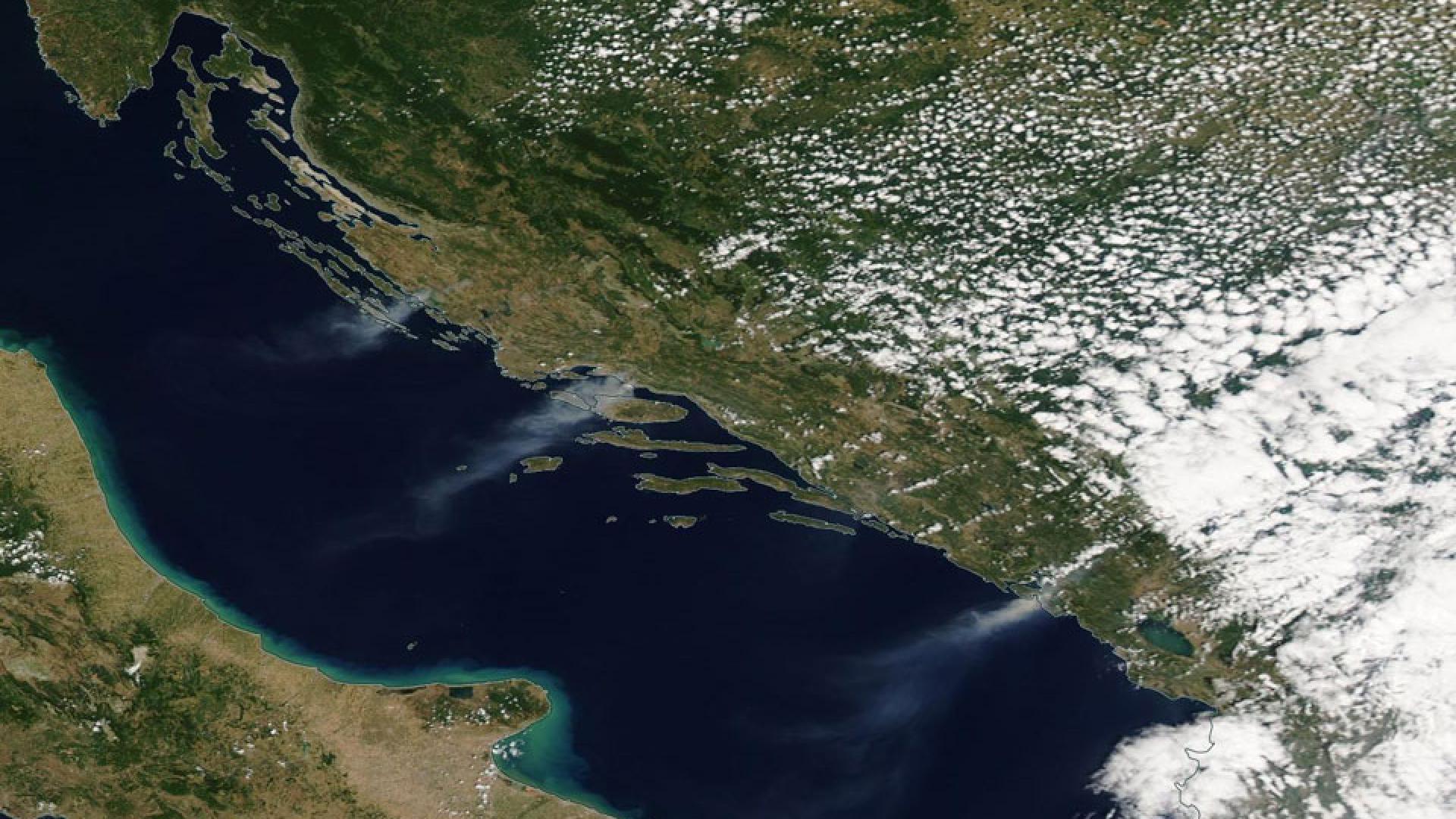 Fire in Croatia and Montenegro